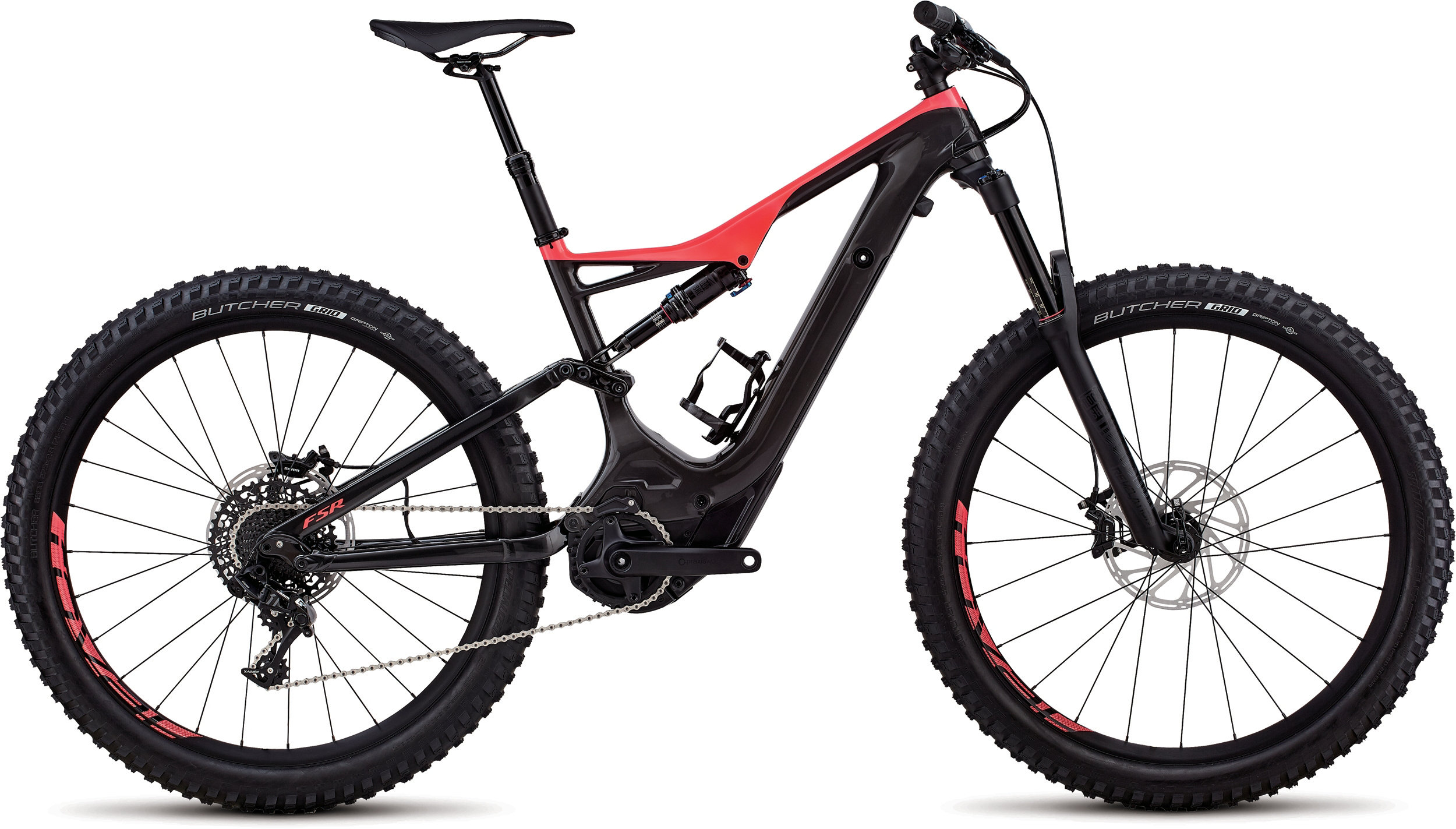 Specialized Men´s Turbo Levo FSR Comp Carbon 6Fattie/29 Gloss Carbon / Acid Red L - Pulsschlag Bike+Sport