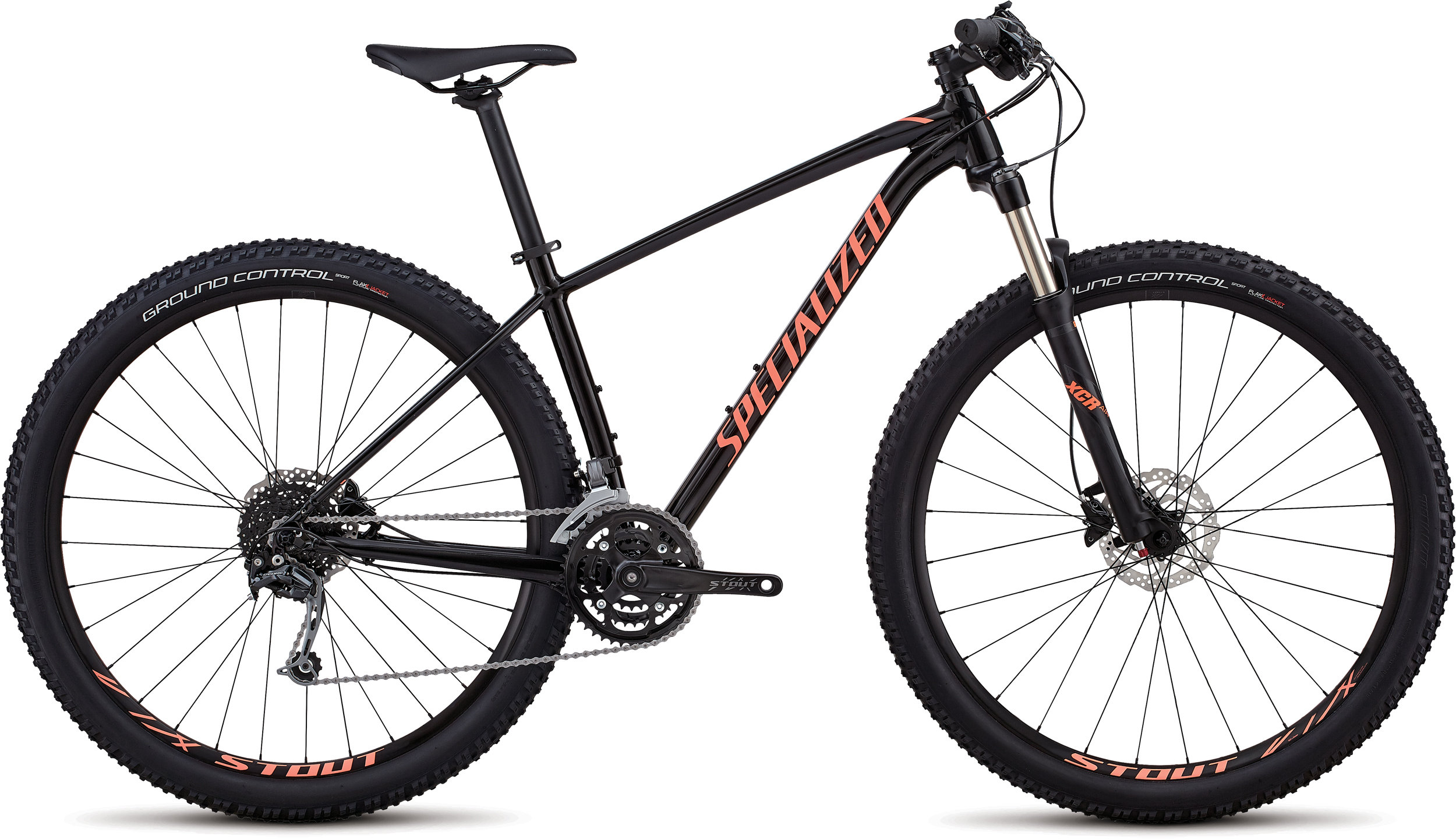 Specialized Women´s Rockhopper Expert GLOSS SATIN TARMAC BLACK / ACID LAVA / BLACK L - Pulsschlag Bike+Sport