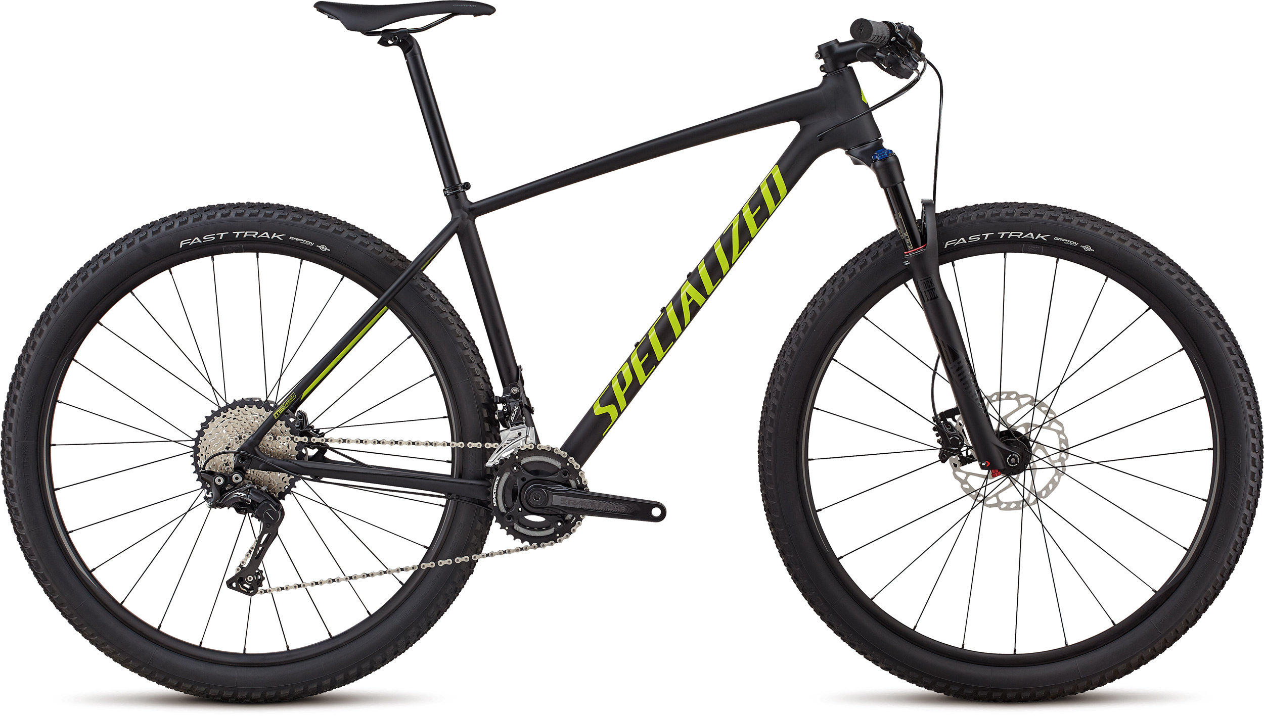 Specialized Men´s Chisel Expert - 2x Satin Gloss Black / Hyper Green L - Bike Zone