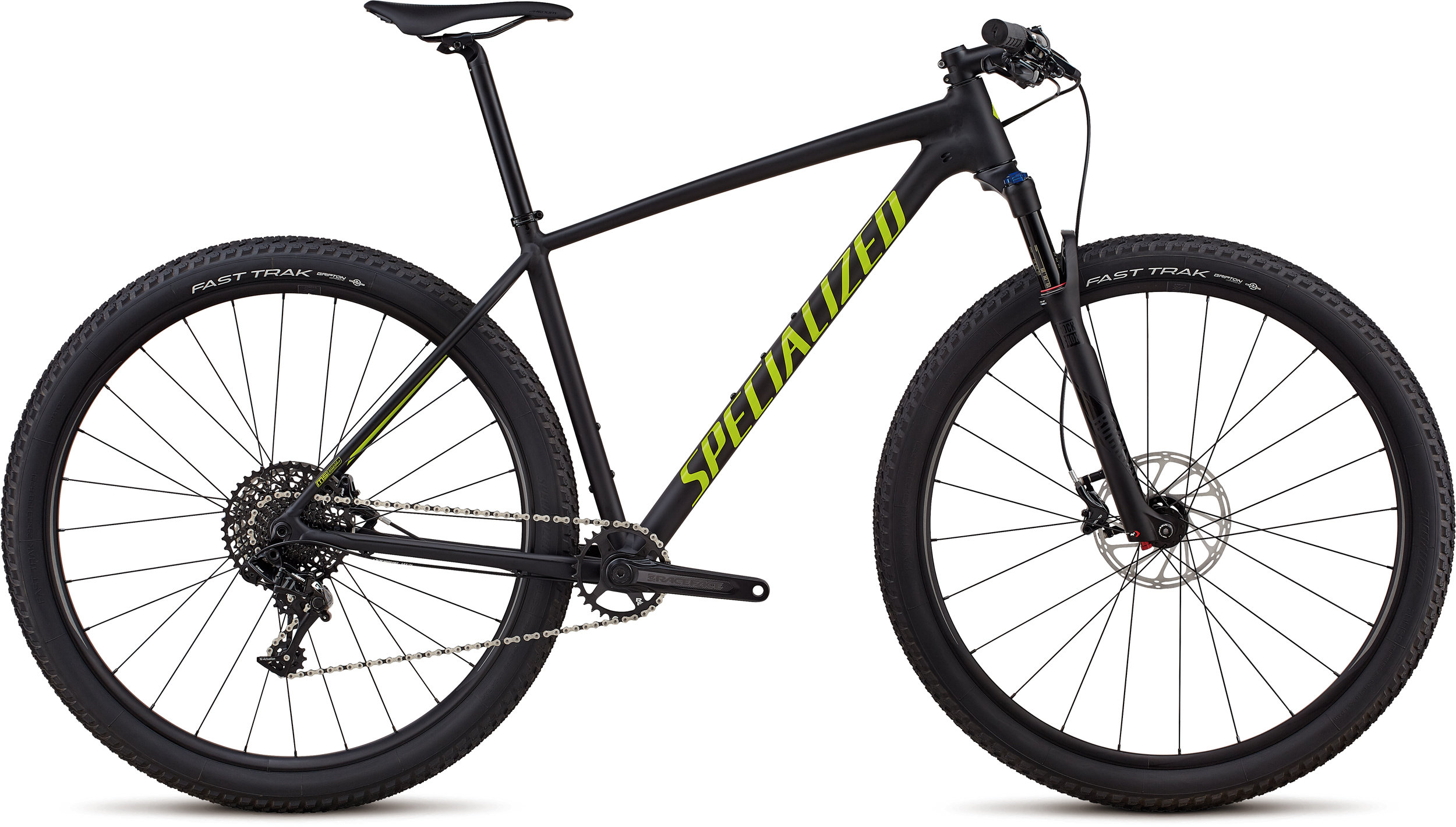 Specialized Men´s Chisel Expert - 1x Satin Gloss Black / Hyper Green S - Bike Maniac