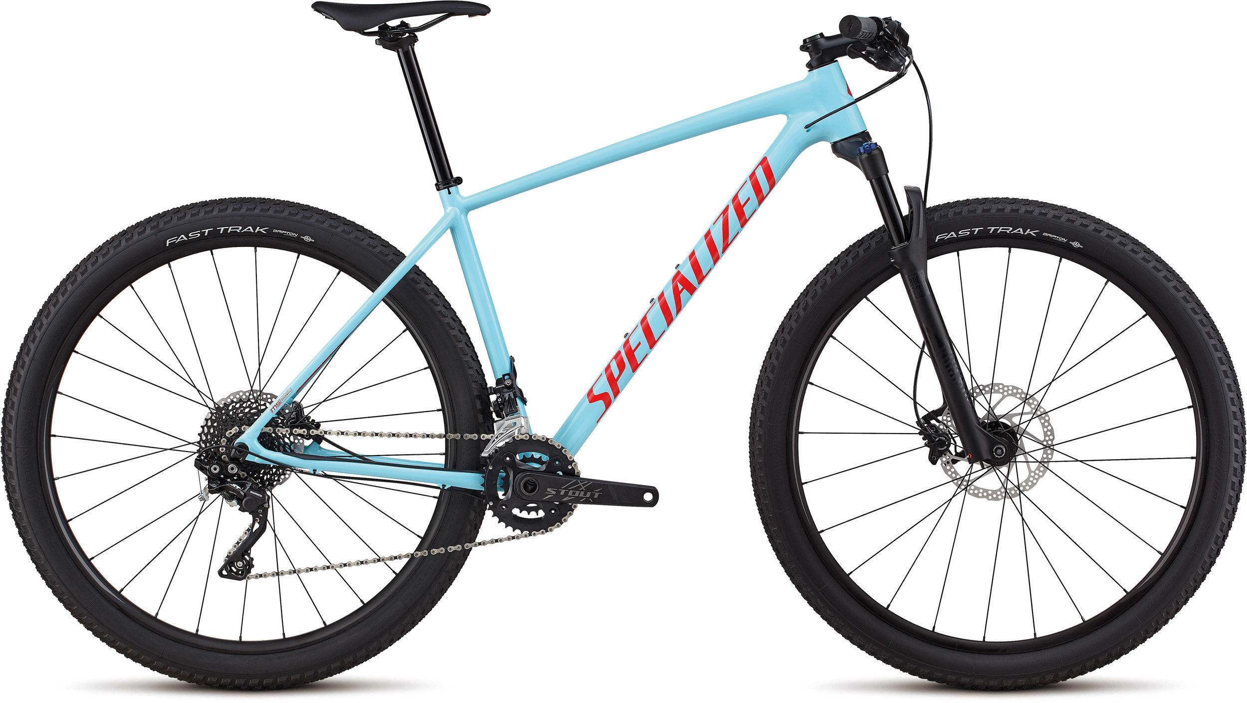 Specialized Men´s Chisel Comp Gloss Light Blue / Rocket Red S - Bike Maniac