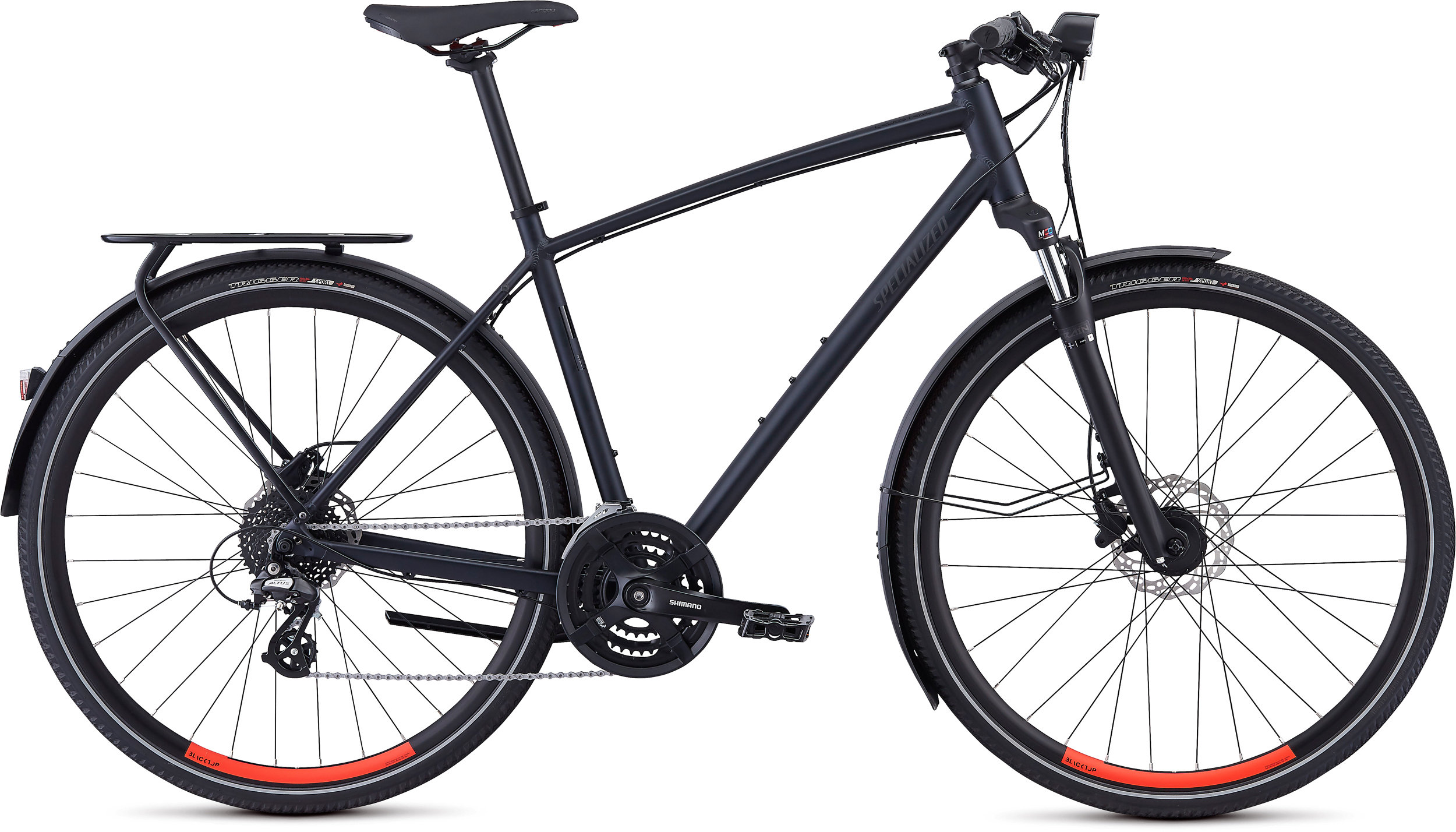 Specialized Crosstrail EQ Satin Cast Black/Rocket Red L - Bike Maniac