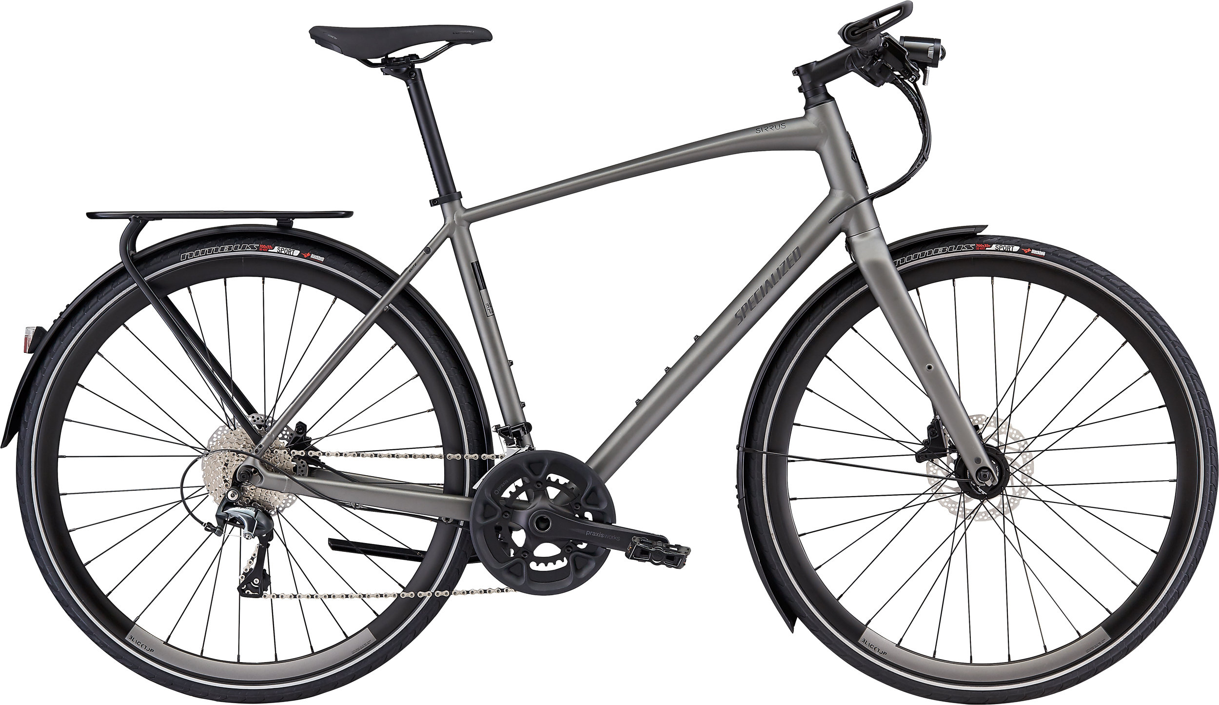 Specialized Men´s Sirrus Elite EQ Satin Brushed L - Alpha Bikes
