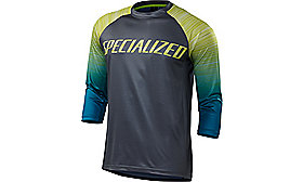 ENDURO COMP 3/4 JERSEY BLKTEAL FADE S