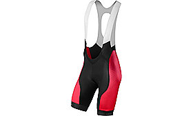 SL PRO BIB SHORT RF MATRIX/RED TEAM M