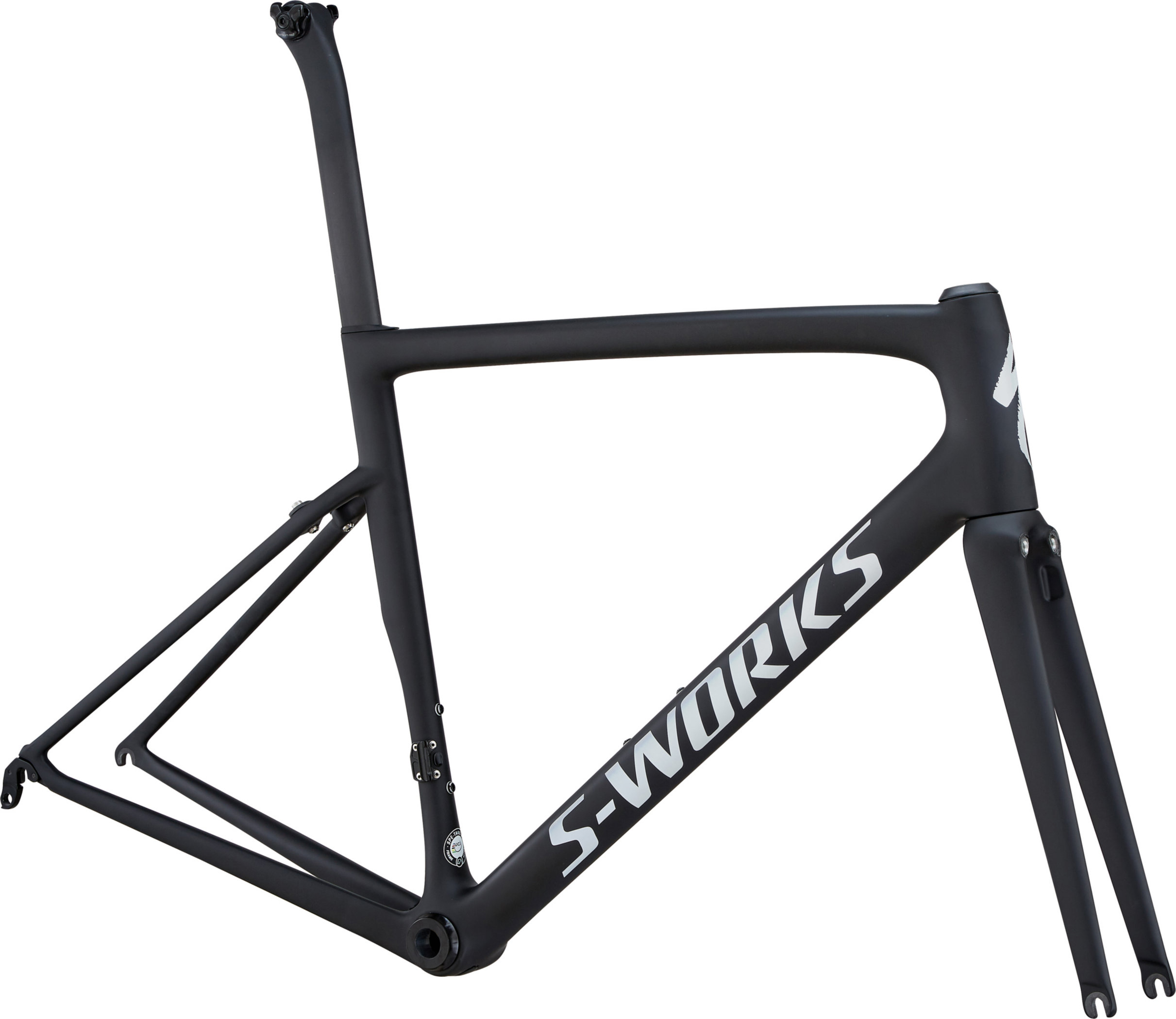 Specialized Men´s S-Works Tarmac Ultralight Frameset Ultralight Monocoat Black/Silver Reflective/Clean 54 - Bartz Bikesystem & Velodepot