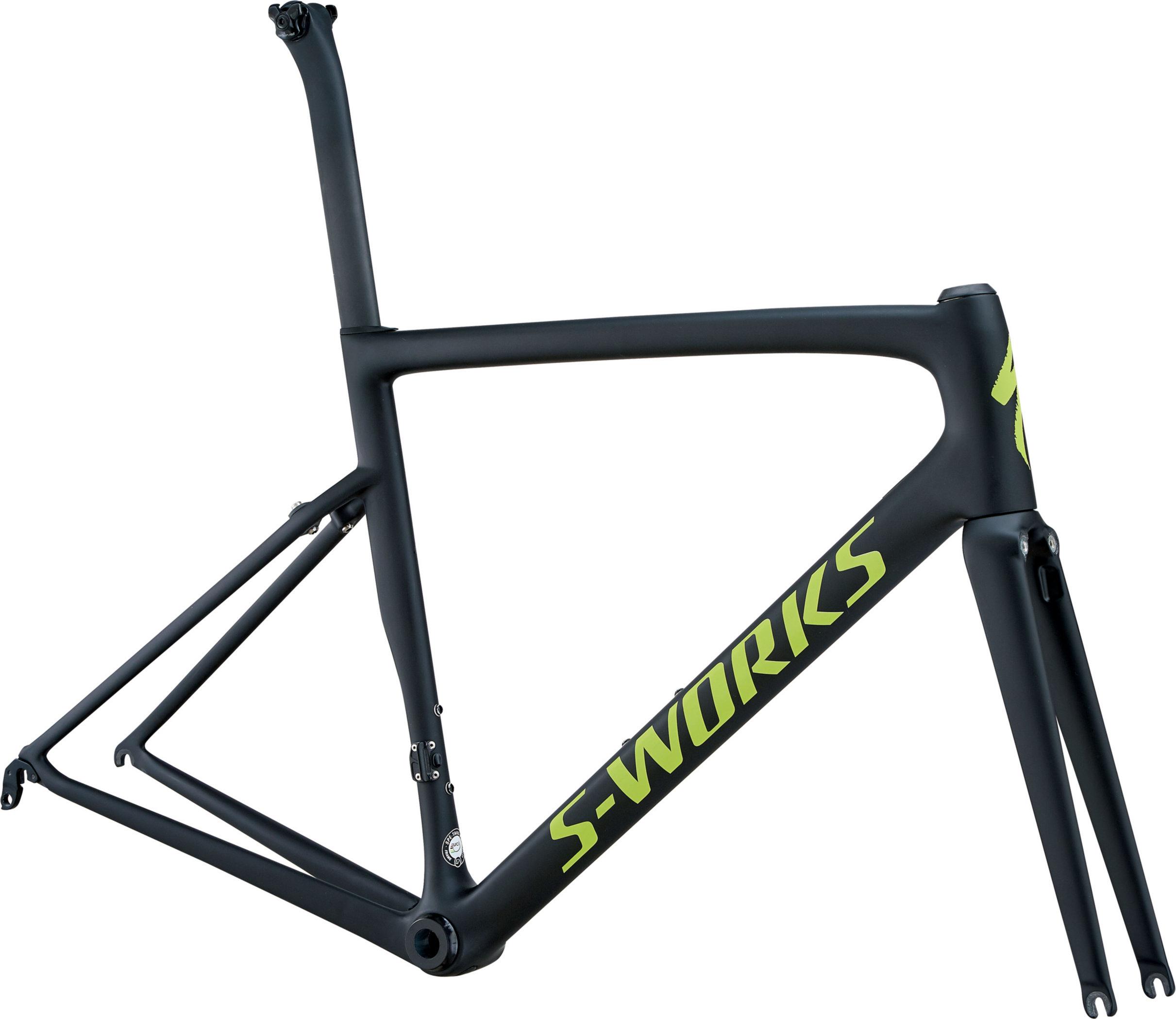 Specialized Men´s S-Works Tarmac Frameset MonoBlack/Hyper Green Reflective/Clean 56 - Alpha Bikes