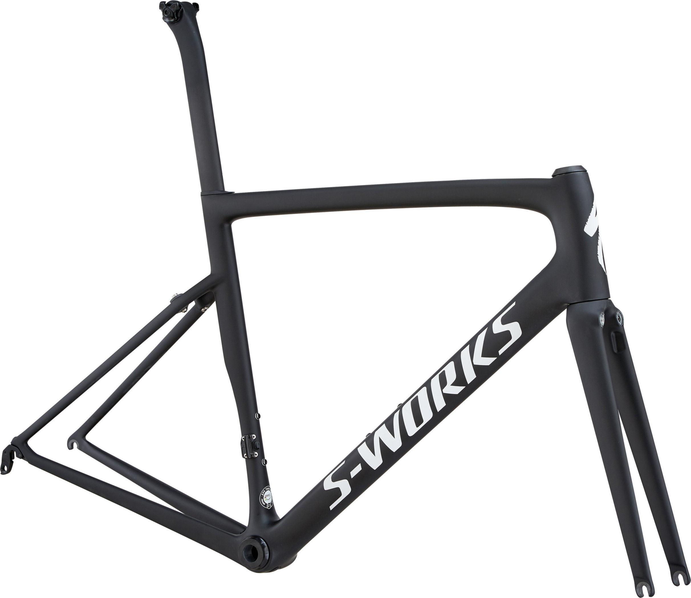 Specialized Men´s S-Works Tarmac Frameset MonoBlack/White Reflective/Clean 58 - Pulsschlag Bike+Sport