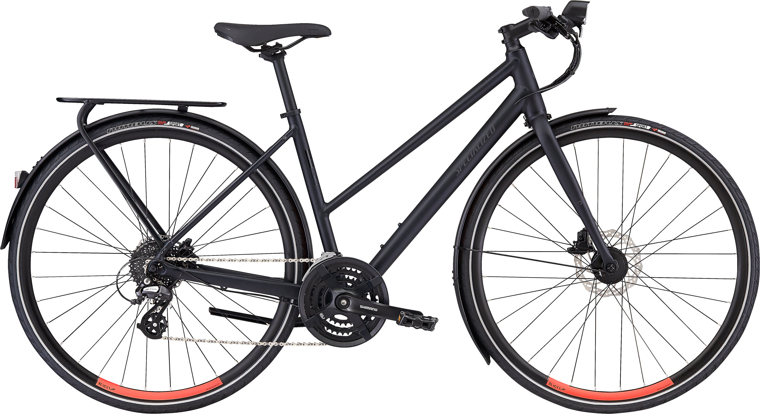 Specialized Women´s Sirrus EQ Step-Through Satin Cast Black/Acid Lava M - Alpha Bikes