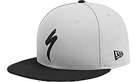 NEW ERA 9FIFTY SNAPBACK HAT S-LOGO LTGRY/BLK OSFA
