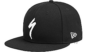 NEW ERA 9FIFTY SNAPBACK HAT S-LOGO BLK/WHT OSFA