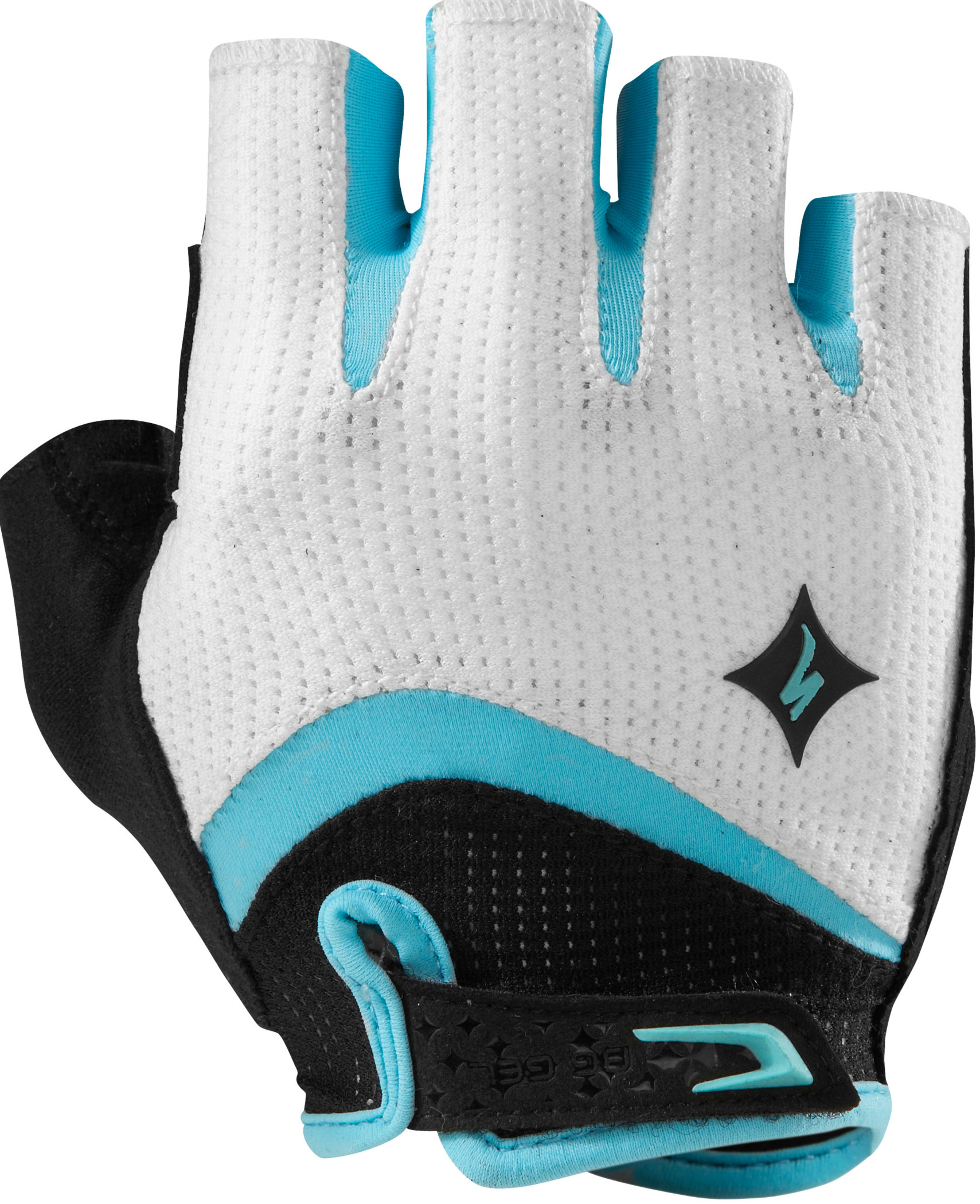 SPECIALIZED BG GEL GLOVE SF WMN WHT/LT TEAL S - Bikedreams & Dustbikes