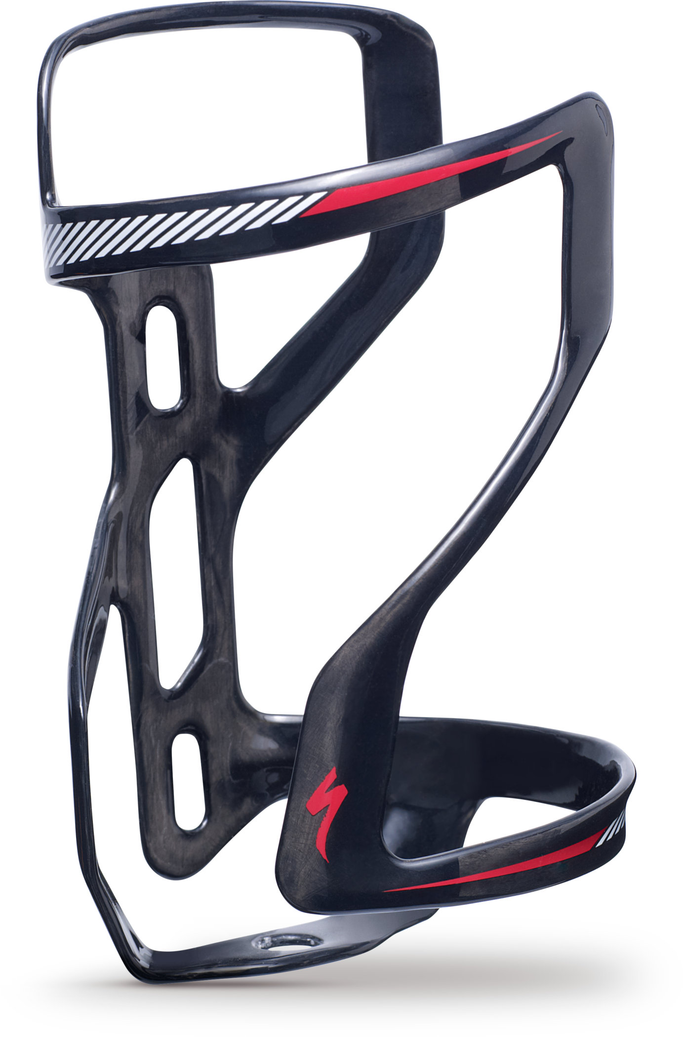 SPECIALIZED SW ZEE CAGE II CARBON SIDE LOADING RIGHT DT CARB/WHT/RED - Bikedreams & Dustbikes