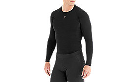 SEAMLESS MERINO BASELAYER LS BLK