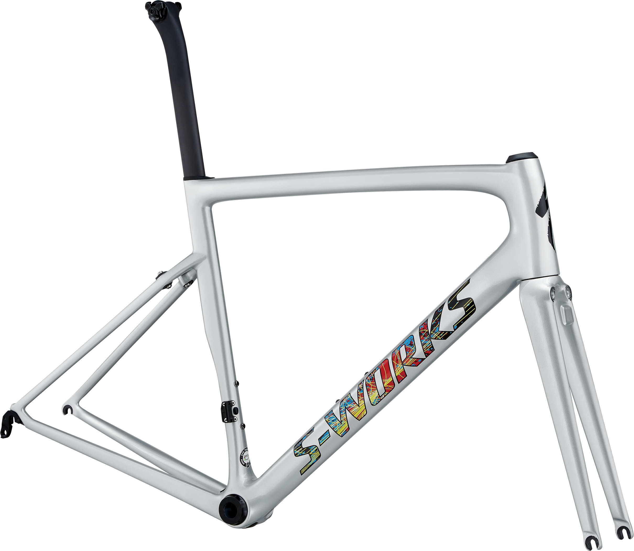 Specialized S-Works Tarmac Frameset Gloss Light Silver/Explosion/Clean 49 - Pulsschlag Bike+Sport