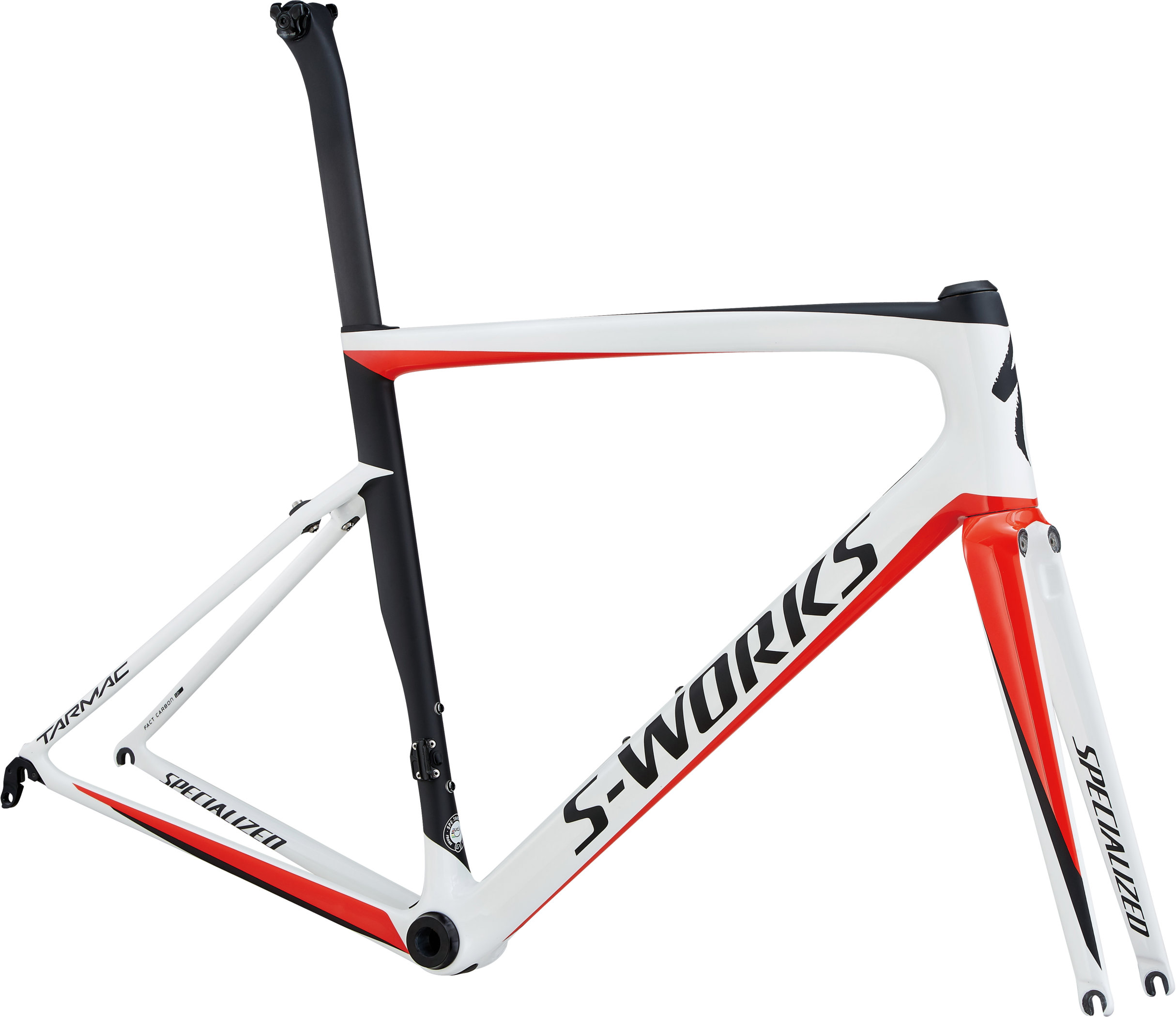Specialized S-Works Tarmac Frameset Light White/Rocket Red/Satin Black 54 - Fahrrad online kaufen | Online Shop Bike Profis