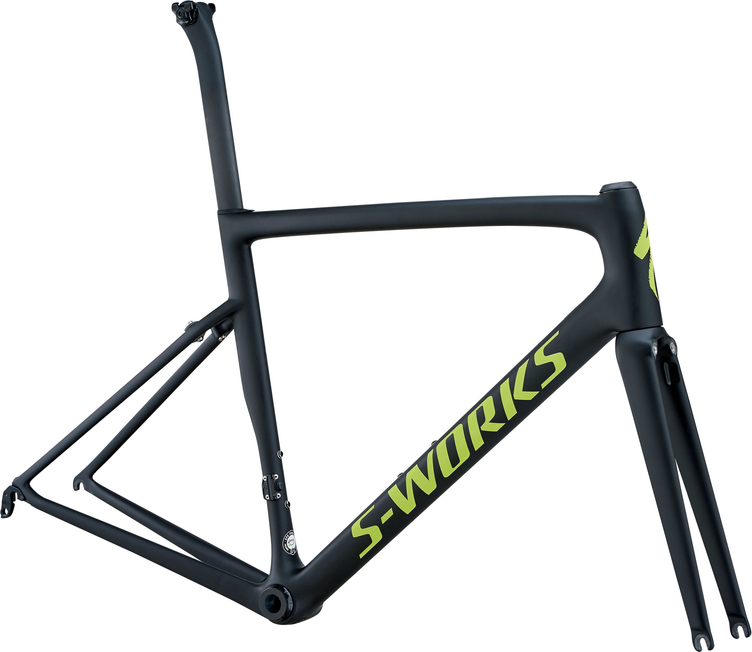 Specialized S-Works Tarmac Frameset MonoBlack/Hyper Green Reflective/Clean 49 - Pulsschlag Bike+Sport