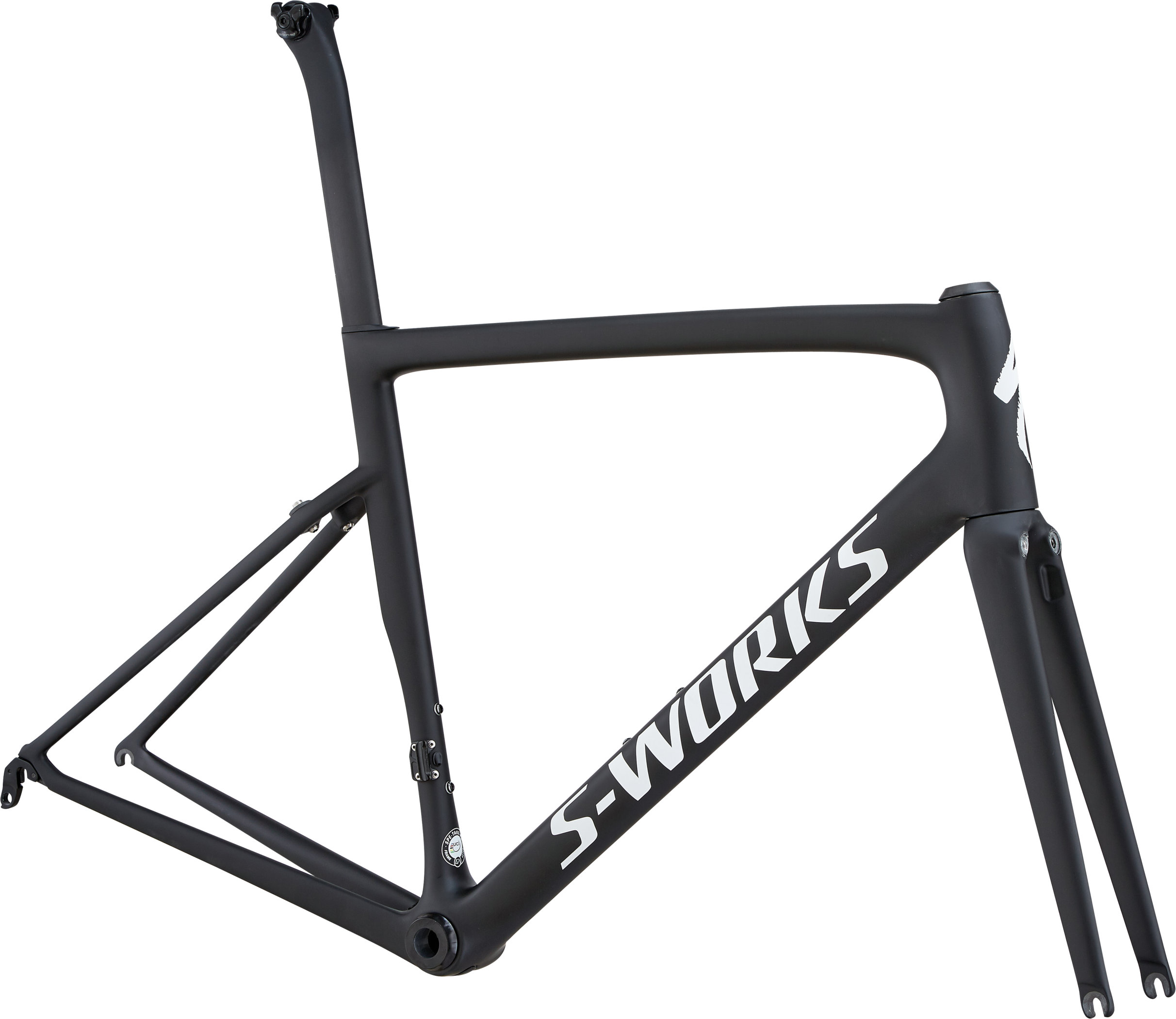 Specialized S-Works Tarmac Frameset MonoBlack/White Reflective/Clean 56 - Pulsschlag Bike+Sport
