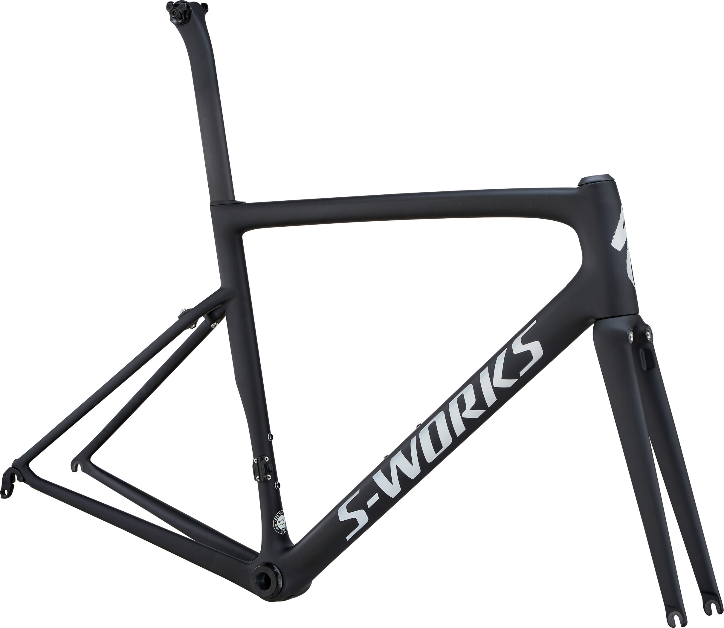 Specialized S-Works Tarmac Ultralight Frameset Ultralight Monocoat Black/Silver Reflective/Clean 44 - Pulsschlag Bike+Sport