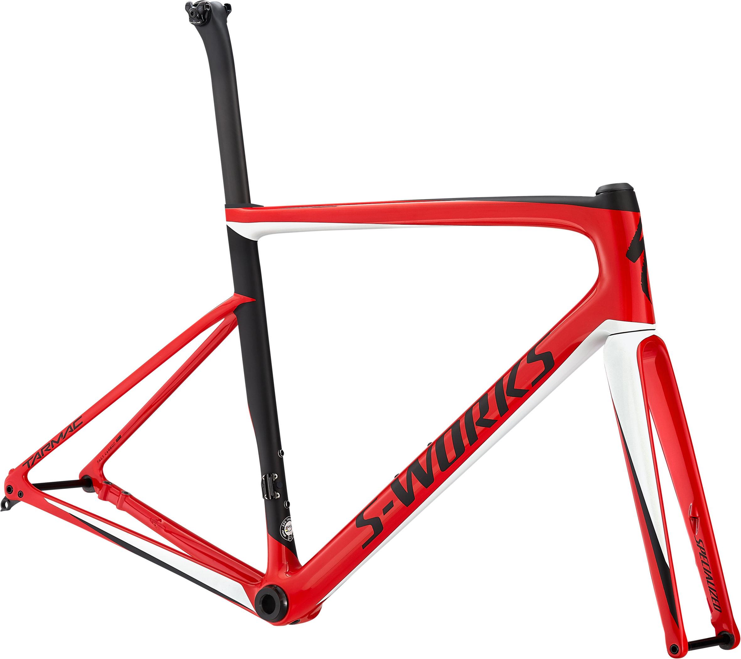 Specialized S-Works Tarmac Disc Frameset GLOSS FLO RED / METALLIC WHITE SILVER / SATIN BLACK 56 - Fahrrad online kaufen | Online Shop Bike Profis