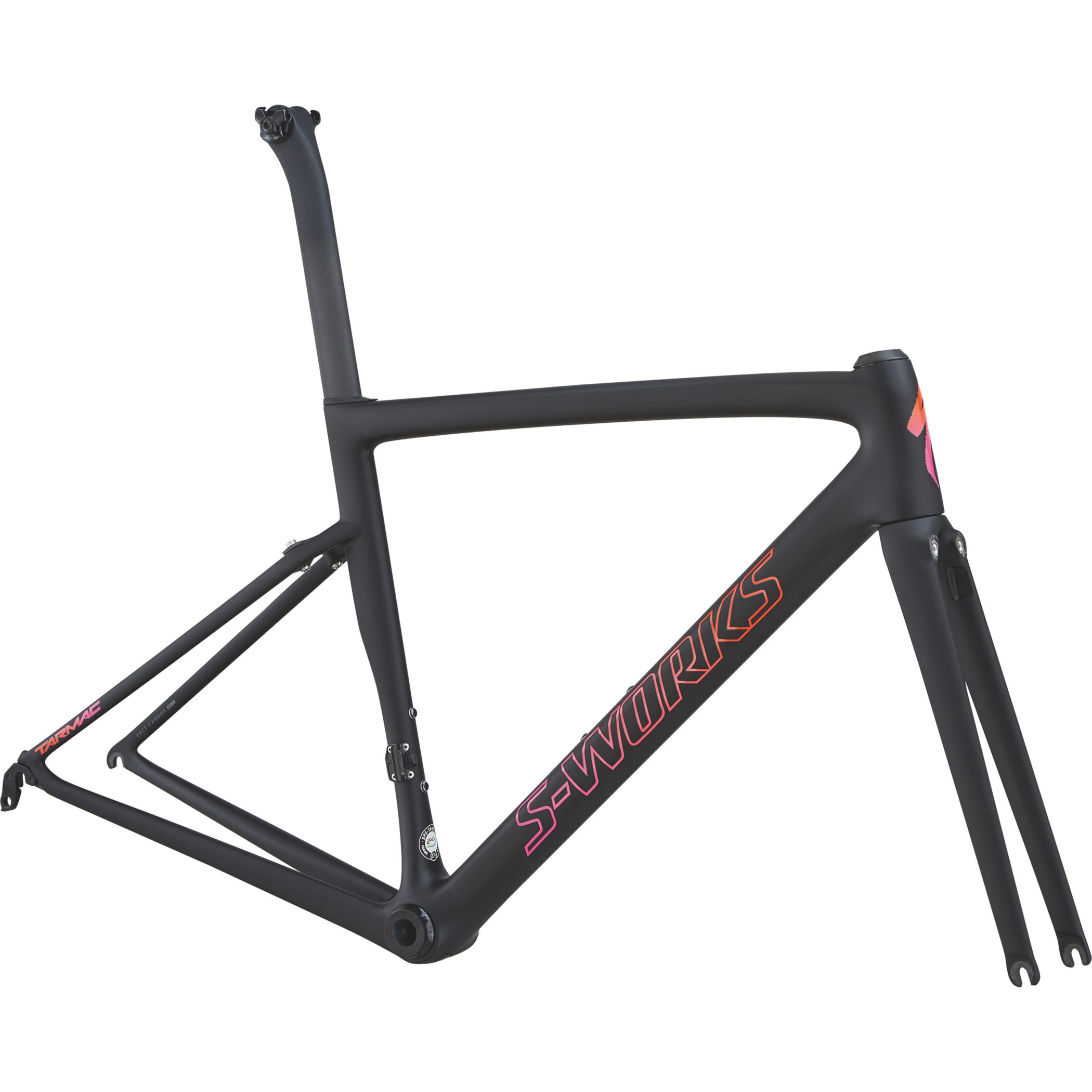 Specialized Women´s S-Works Tarmac Frameset Satin/Gloss/MonoBlk/Acid Purple Rkt Red Fade 44 - Pulsschlag Bike+Sport