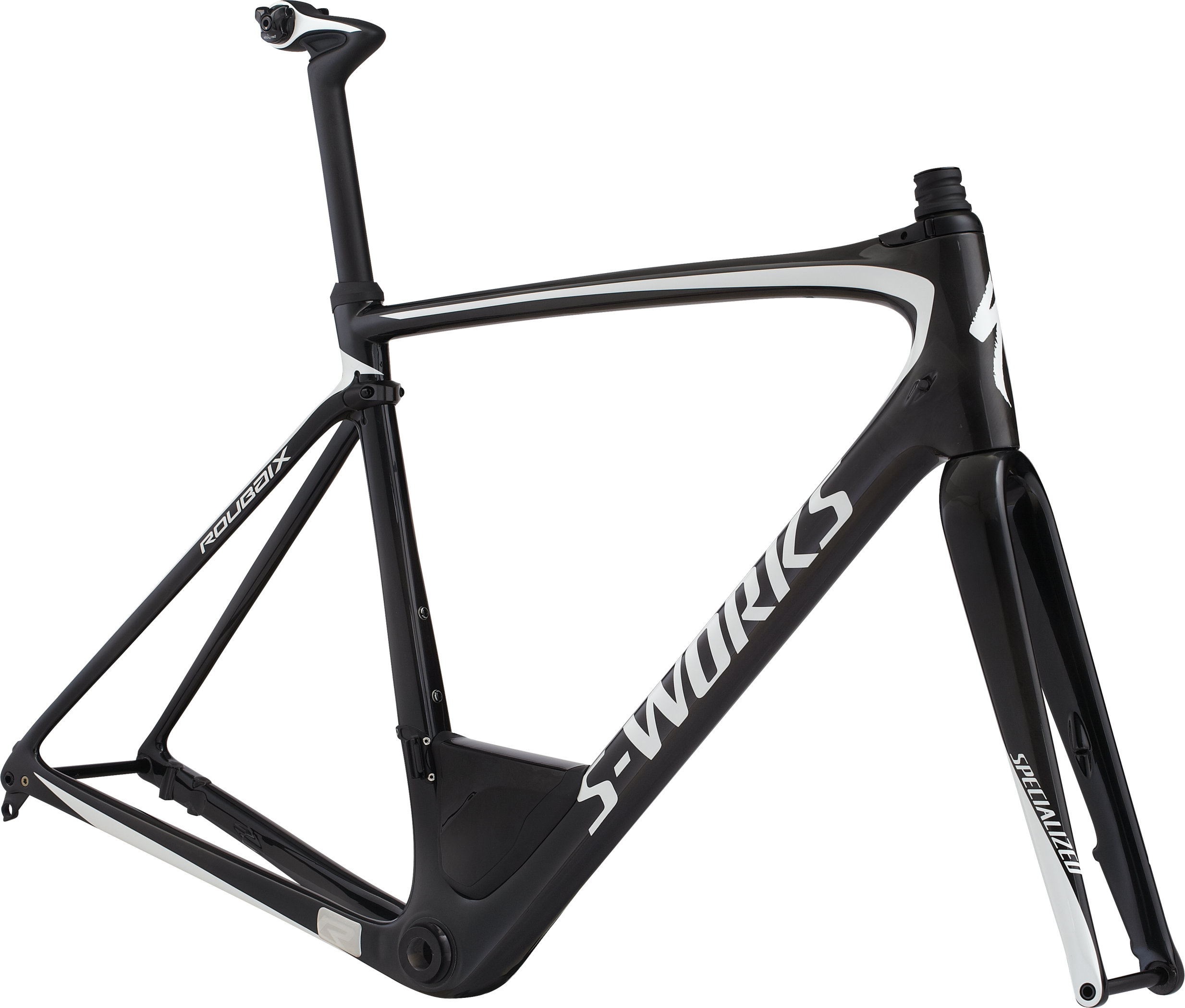 Specialized S-Works Roubaix Frameset CARBON / METALLIC WHITE SILVER 49 - Pulsschlag Bike+Sport