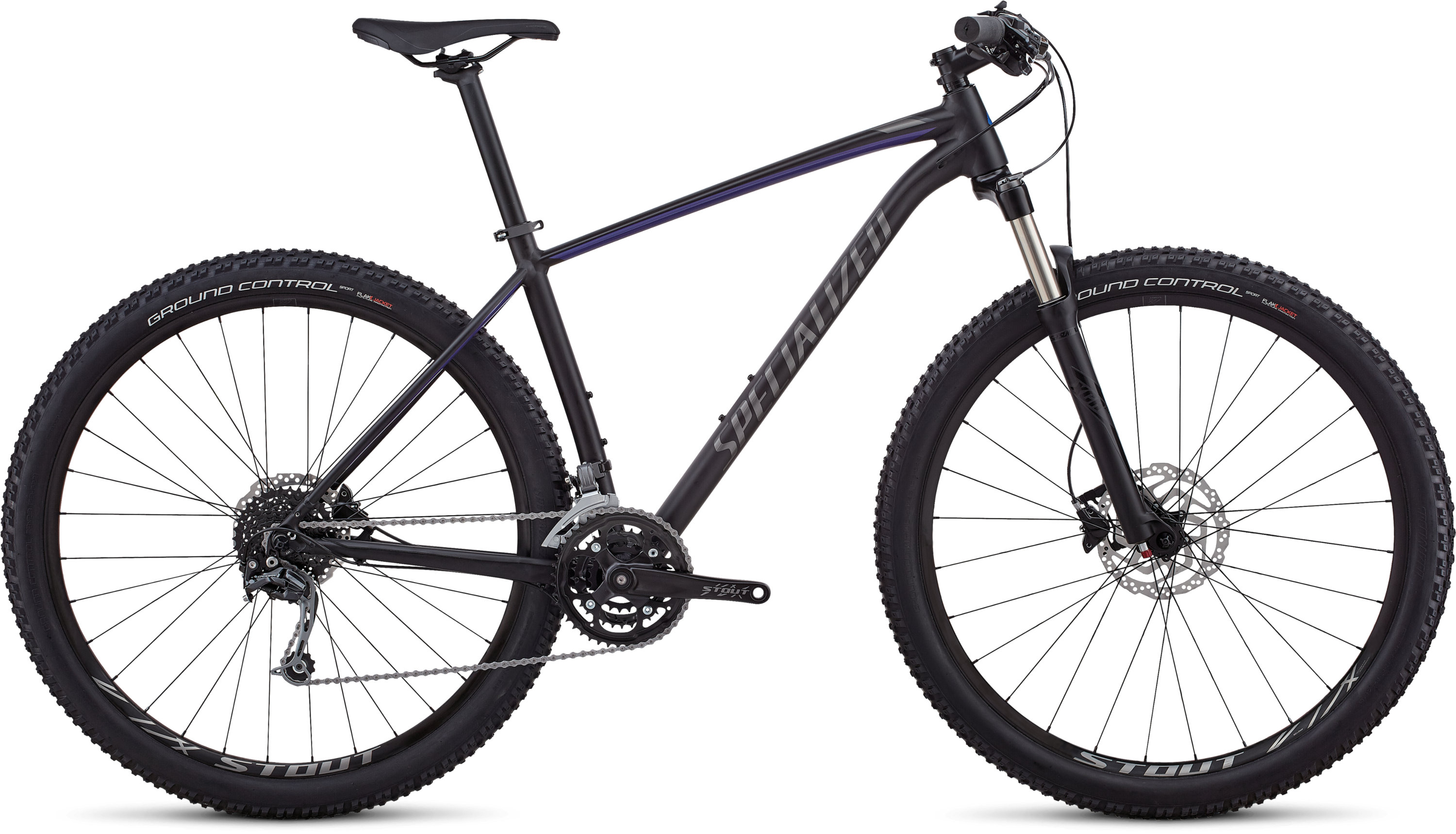 Specialized Men´s Rockhopper Expert SATIN GLOSS TARMAC BLACK / AC BLUE / CHARCOAL L - Pulsschlag Bike+Sport