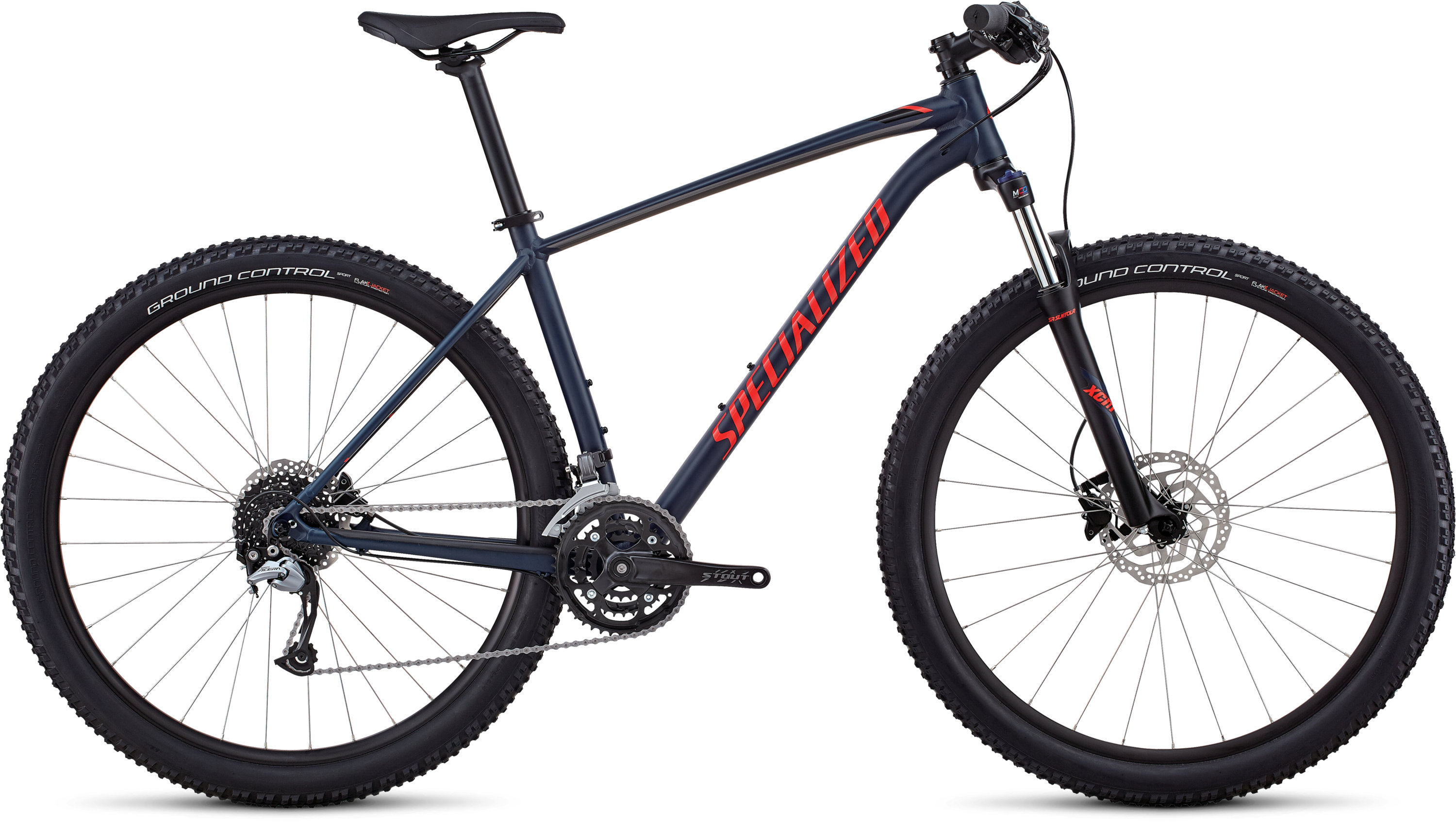 Specialized Men´s Rockhopper Comp SATIN GLOSS CAST BLUE / CHARCOAL / ROCKET RED L - Pulsschlag Bike+Sport