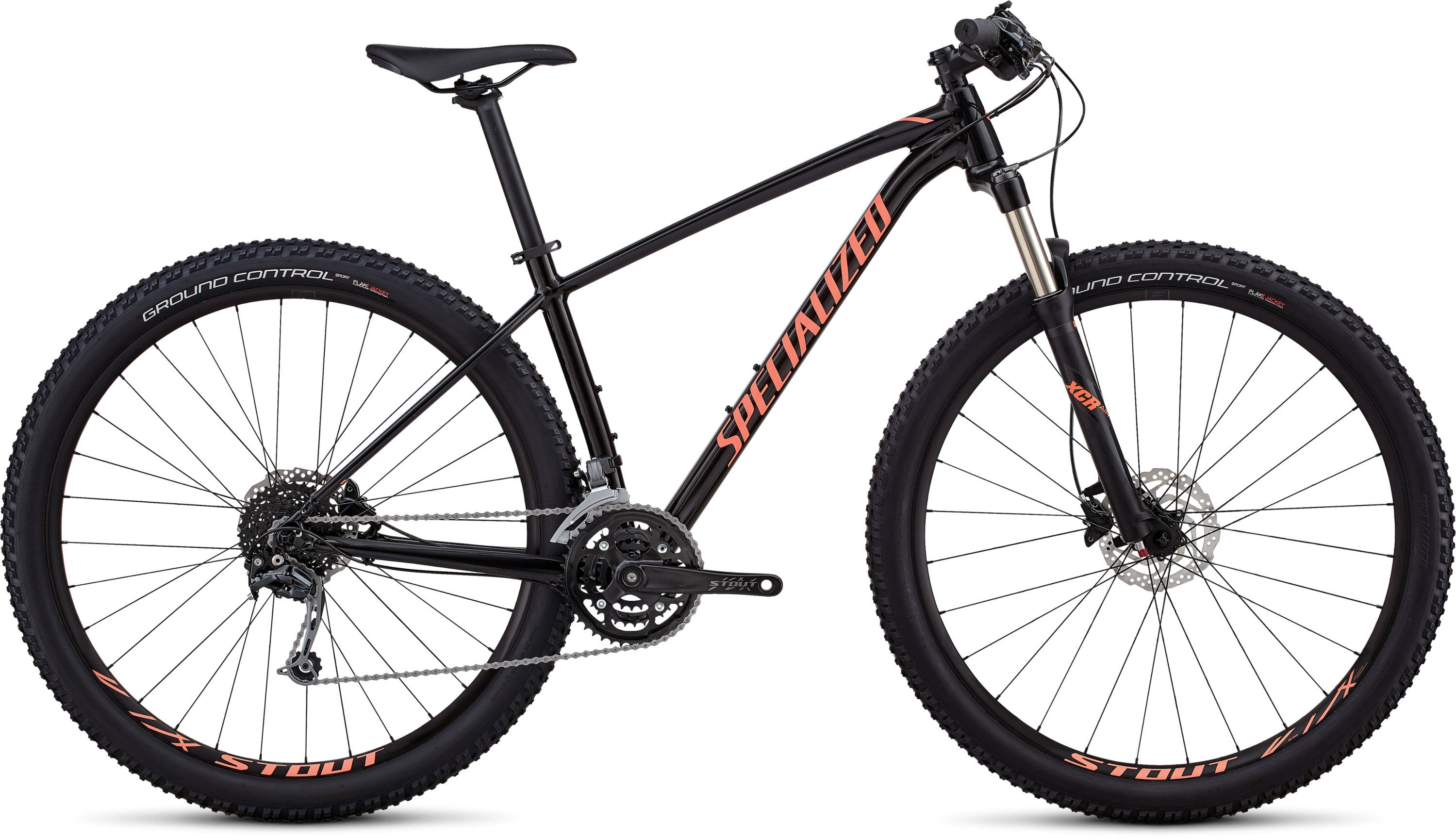 Specialized Women´s Rockhopper Expert GLOSS SATIN TARMAC BLACK / ACID LAVA / BLACK M - Pulsschlag Bike+Sport