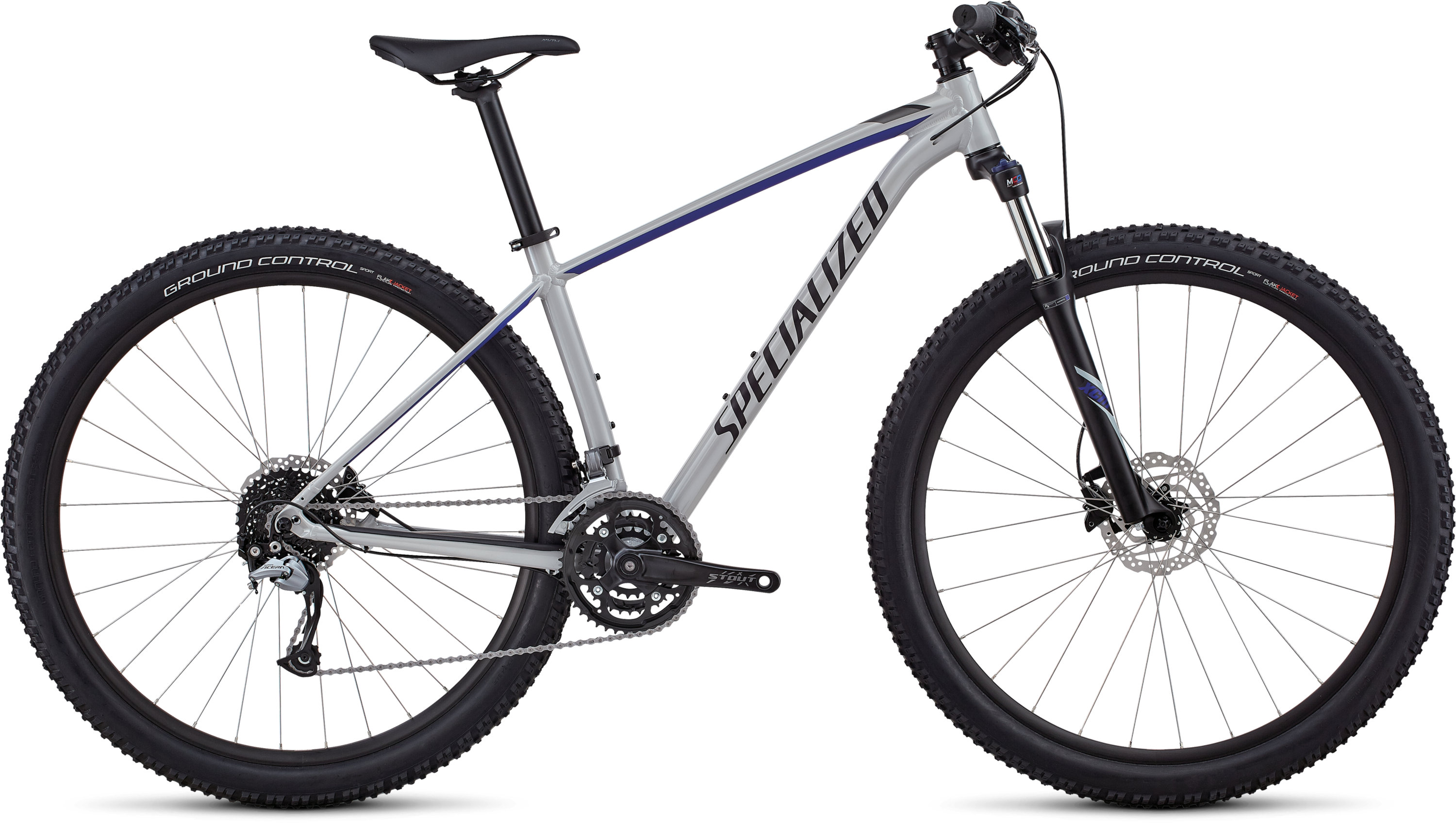Specialized Women´s Rockhopper Comp GLOSS SATIN FILTHY WHITE / ACID BLUE / BLACK M - Pulsschlag Bike+Sport