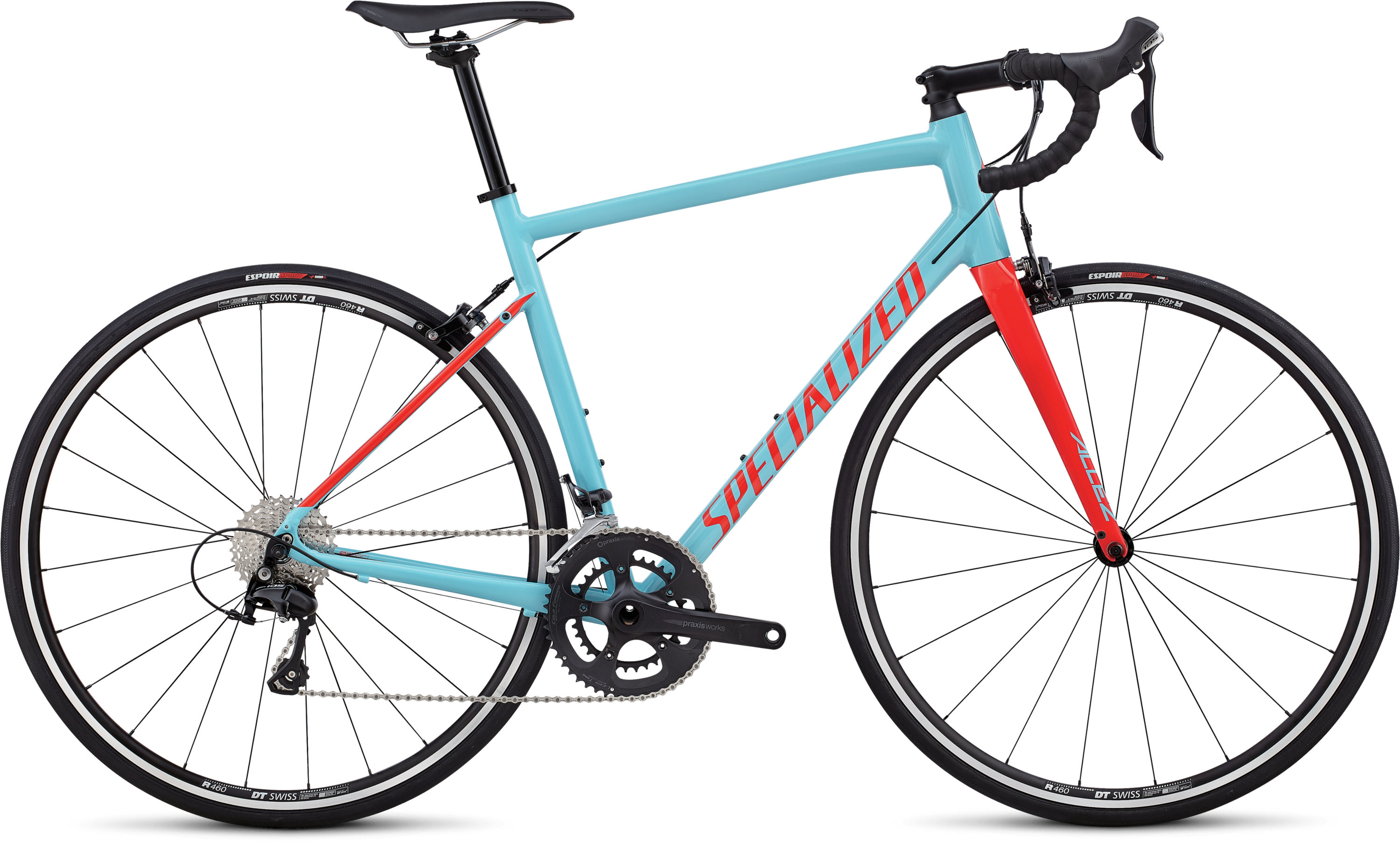 Specialized Allez Elite Gloss Light Blue / Rocket Red 49 - Bartz Bikesystem & Velodepot