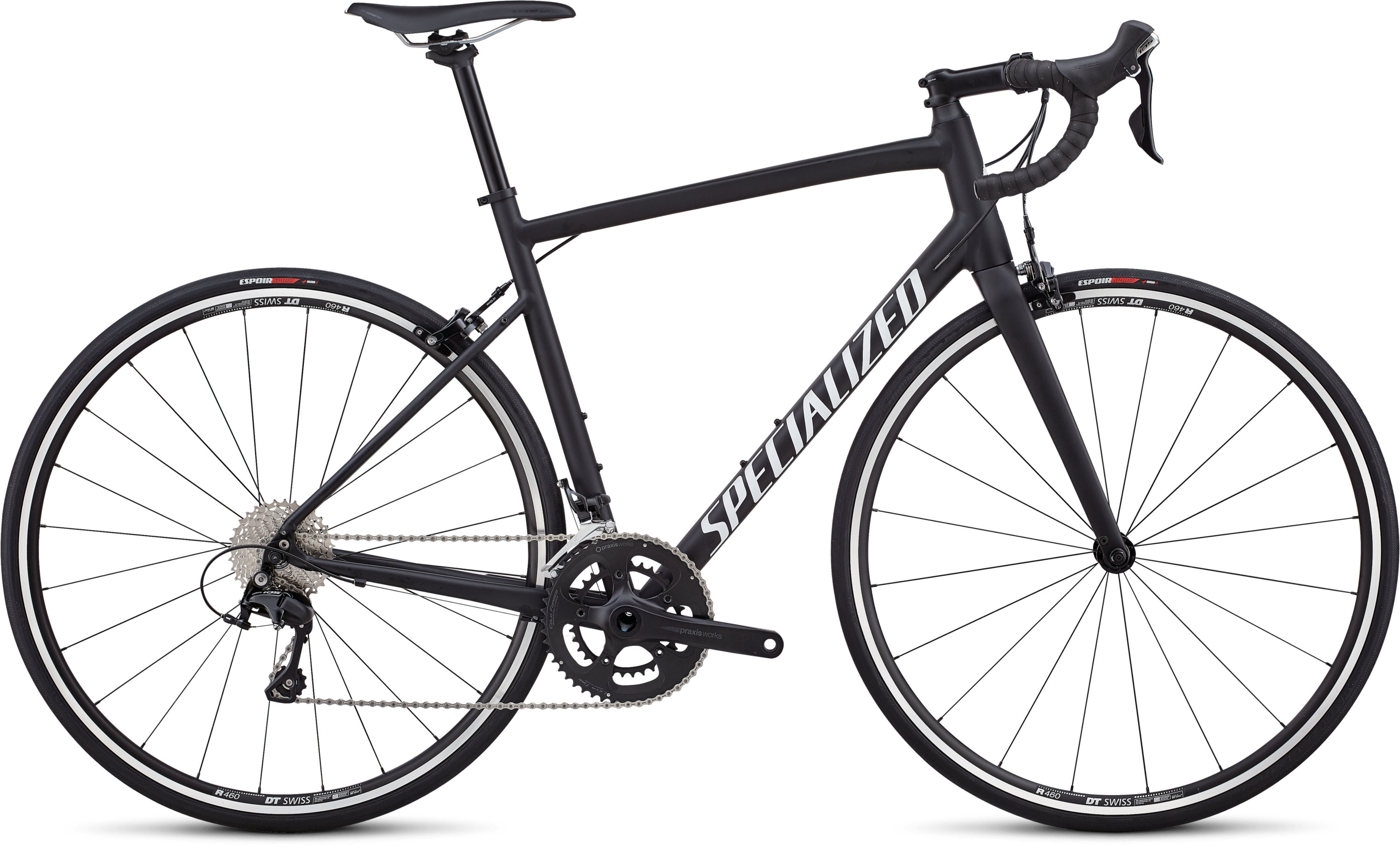 Specialized Allez Elite Satin Black / White / Clean 54 - Pulsschlag Bike+Sport