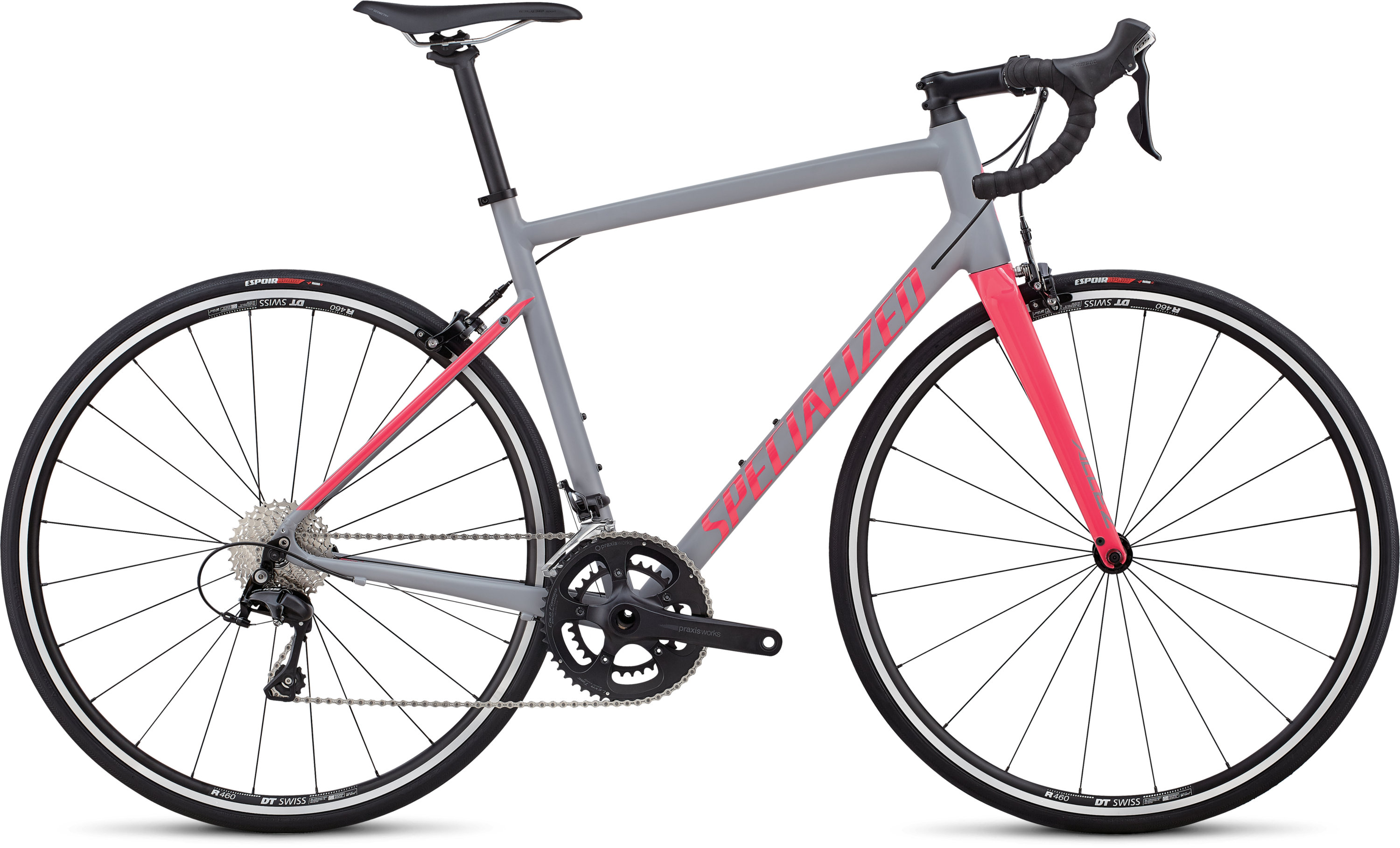 Specialized Allez Elite Satin Cool Gray  / Gloss Hot Pink 49 - Bartz Bikesystem & Velodepot