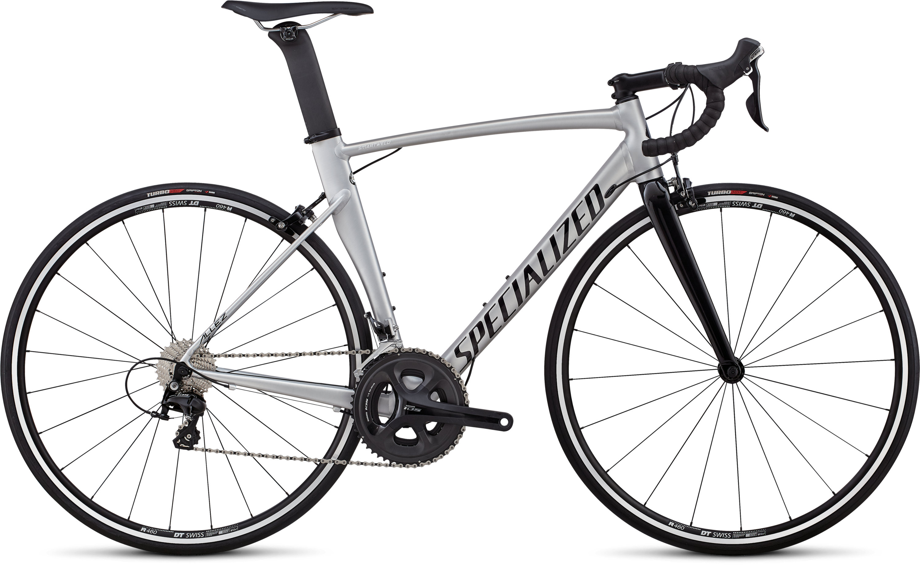 Specialized Allez Sprint Comp Satin Brushed  / Gloss Tarmac Black 49 - Pulsschlag Bike+Sport