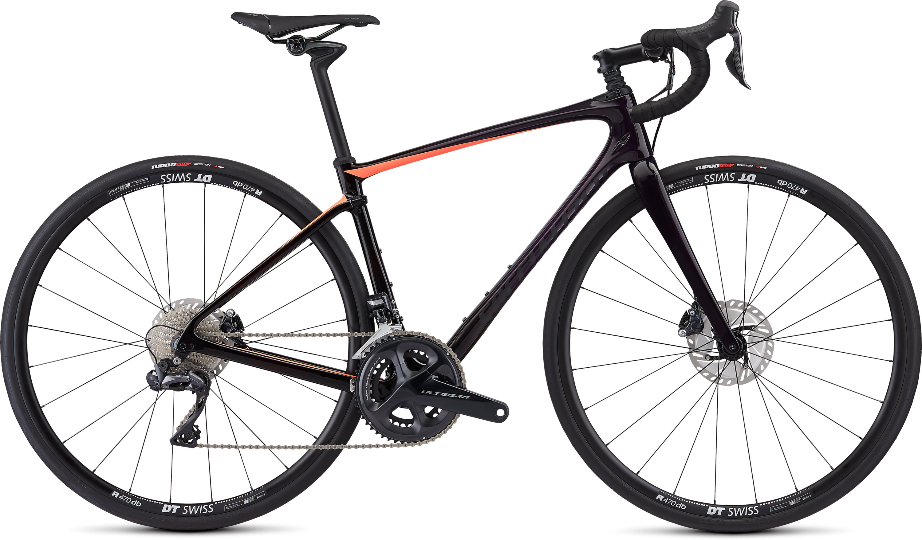 Specialized Ruby Comp  Ultegra Di2 Gloss Satin/Purple Tint-Red Tint Fade/Acid Lava/Black 51 - Pulsschlag Bike+Sport