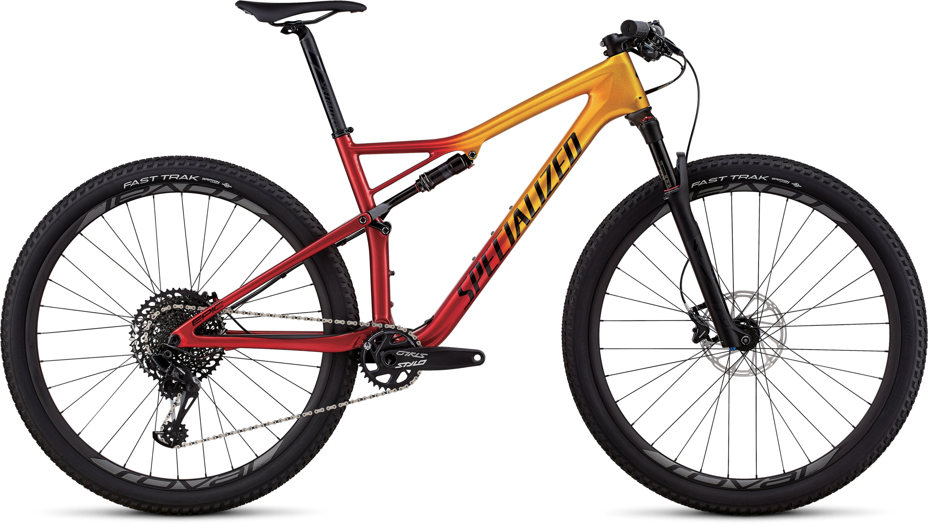 Specialized Men´s Epic Expert GLOSS GOLD FLAKE / CANDY RED / COSMIC BLACK L - Pulsschlag Bike+Sport