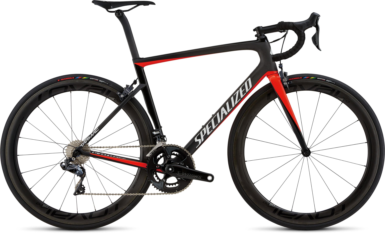 Specialized Men´s Tarmac Pro Carbon/Gloss Rkt Red/Tarmac Blk/Metallic Wht Slver 56 - Fahrrad online kaufen | Online Shop Bike Profis