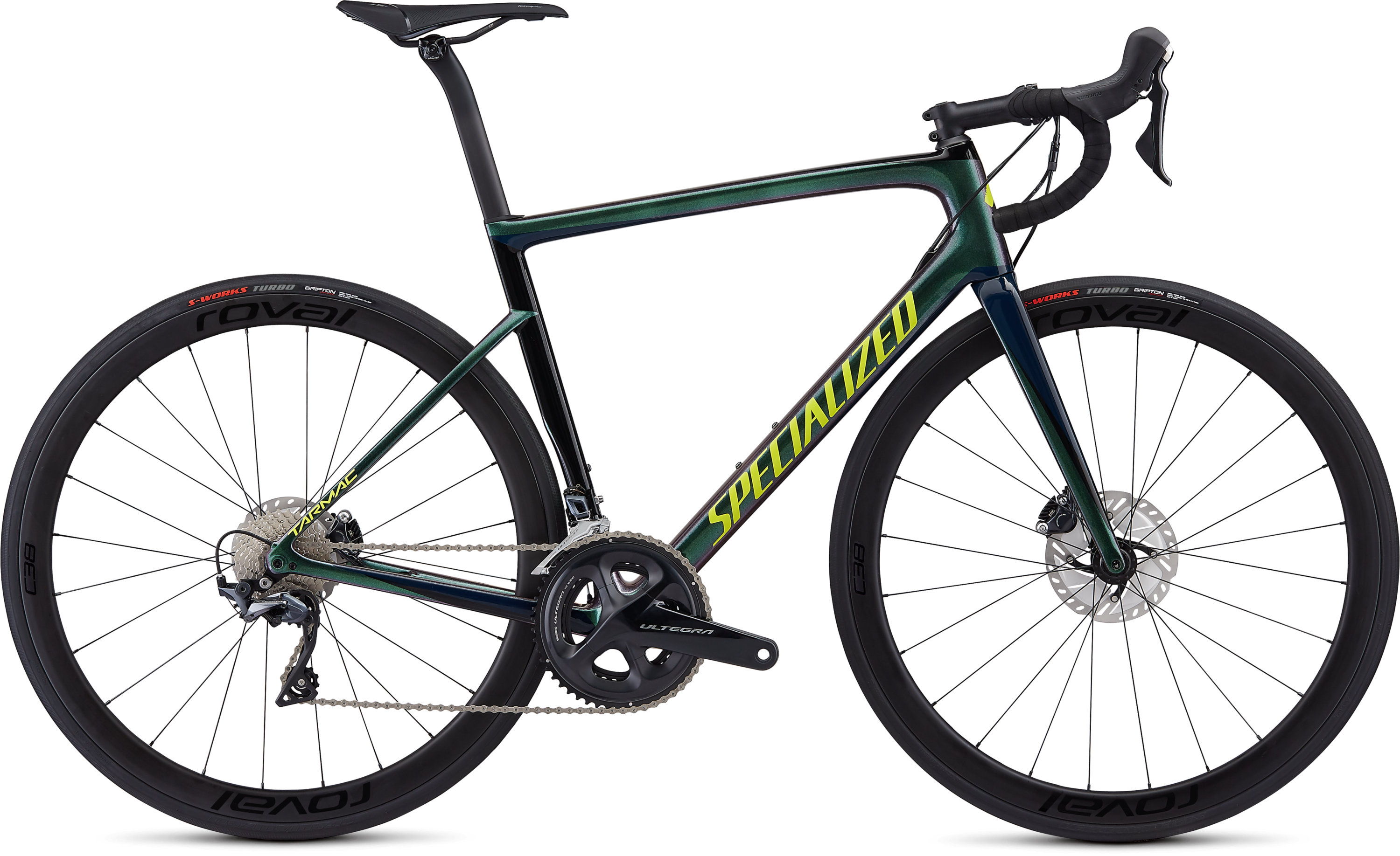Specialized Men´s Tarmac Disc Expert Chameleon Green/Cast Blue/Tarmac Black/Team Yellow 49 - Pulsschlag Bike+Sport