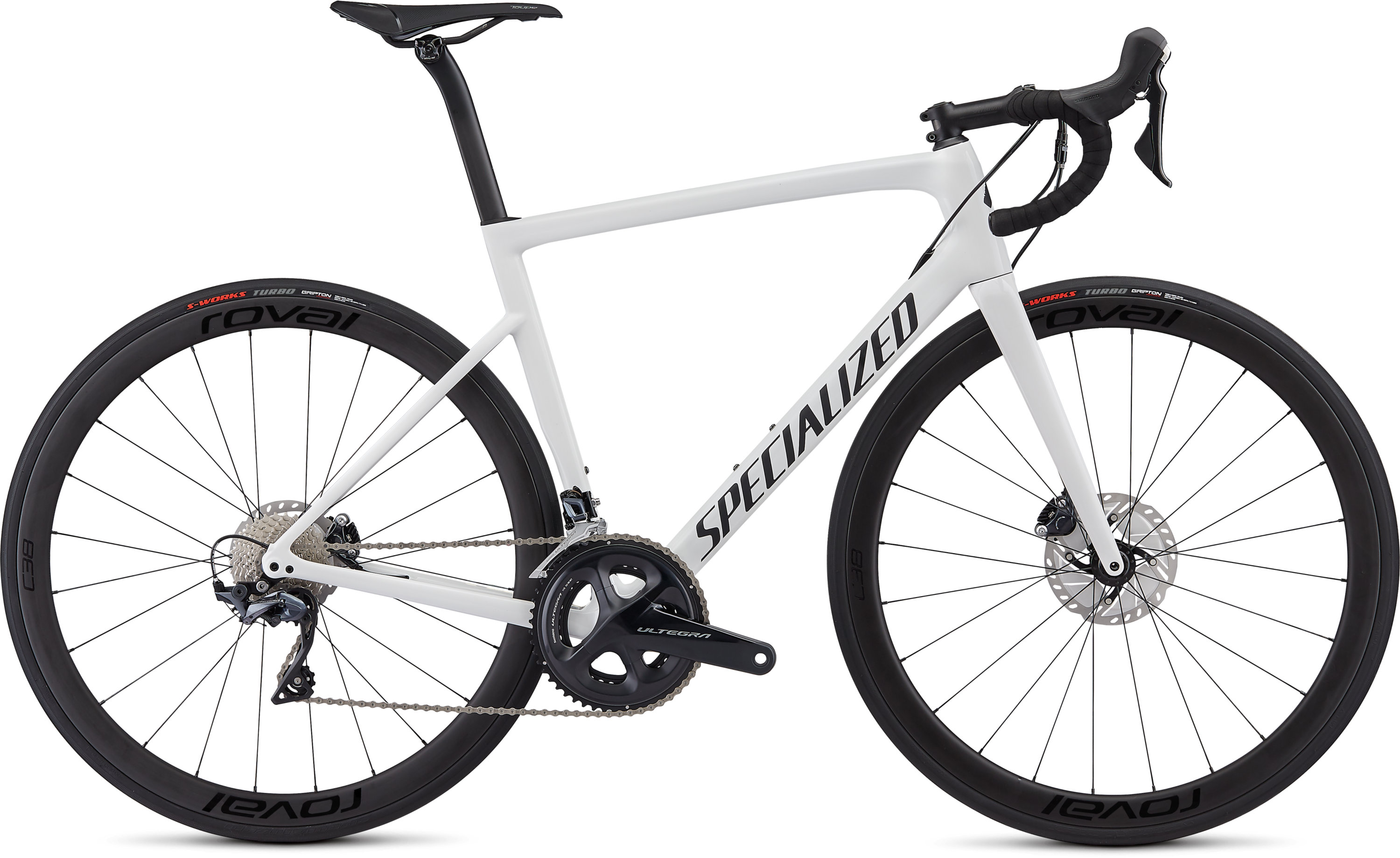 Specialized Men´s Tarmac Disc Expert White/Blue Ghost Pearl/Satin Black/Clean 56 - Pulsschlag Bike+Sport