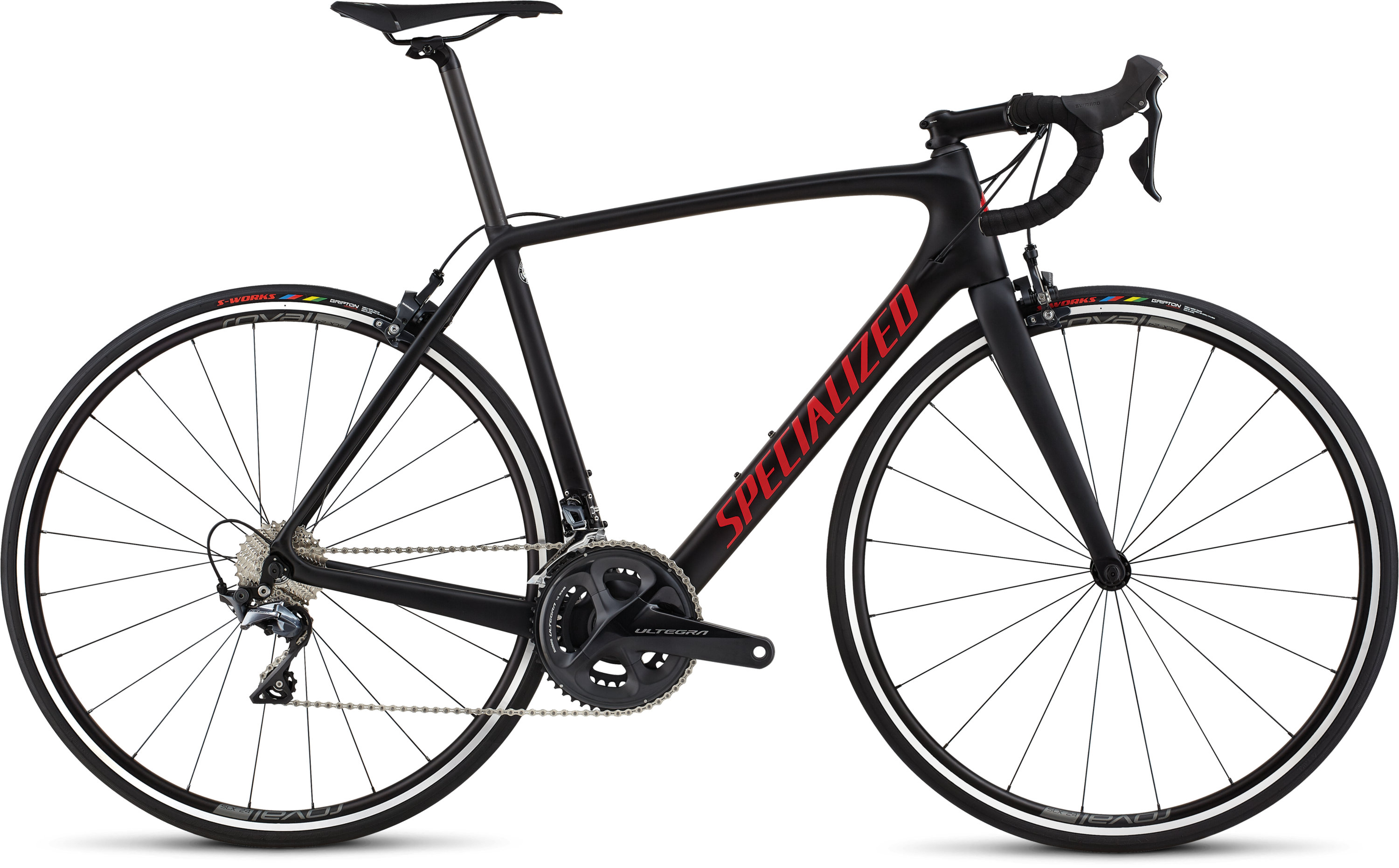 Specialized Men´s Tarmac Comp Black/Gloss Flo Red/Clean 49 - Pulsschlag Bike+Sport