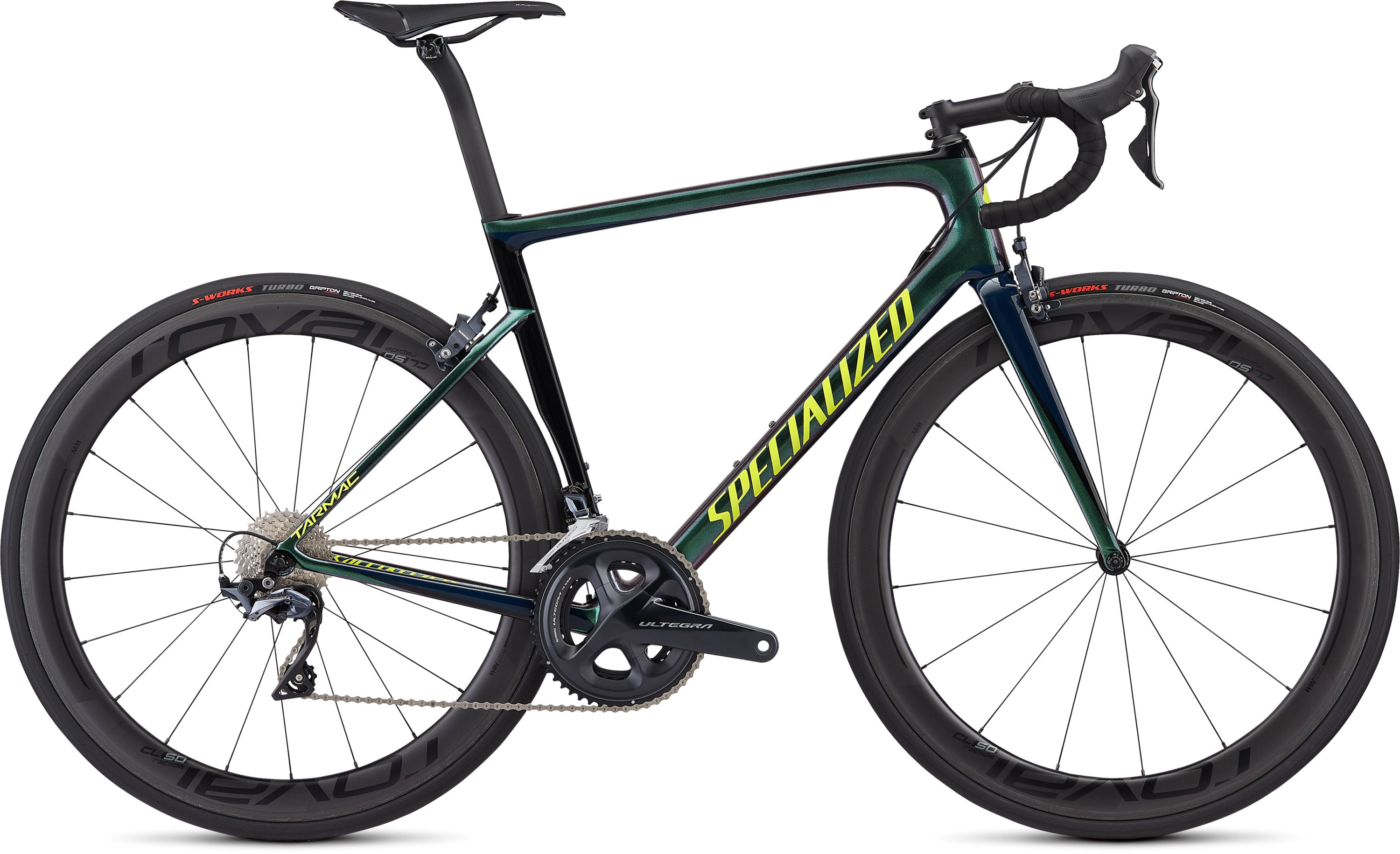 Specialized Men´s Tarmac Expert Gloss Chameleon Green/Cast Blue/Tarmac Black/Team Yellow 49 - Pulsschlag Bike+Sport