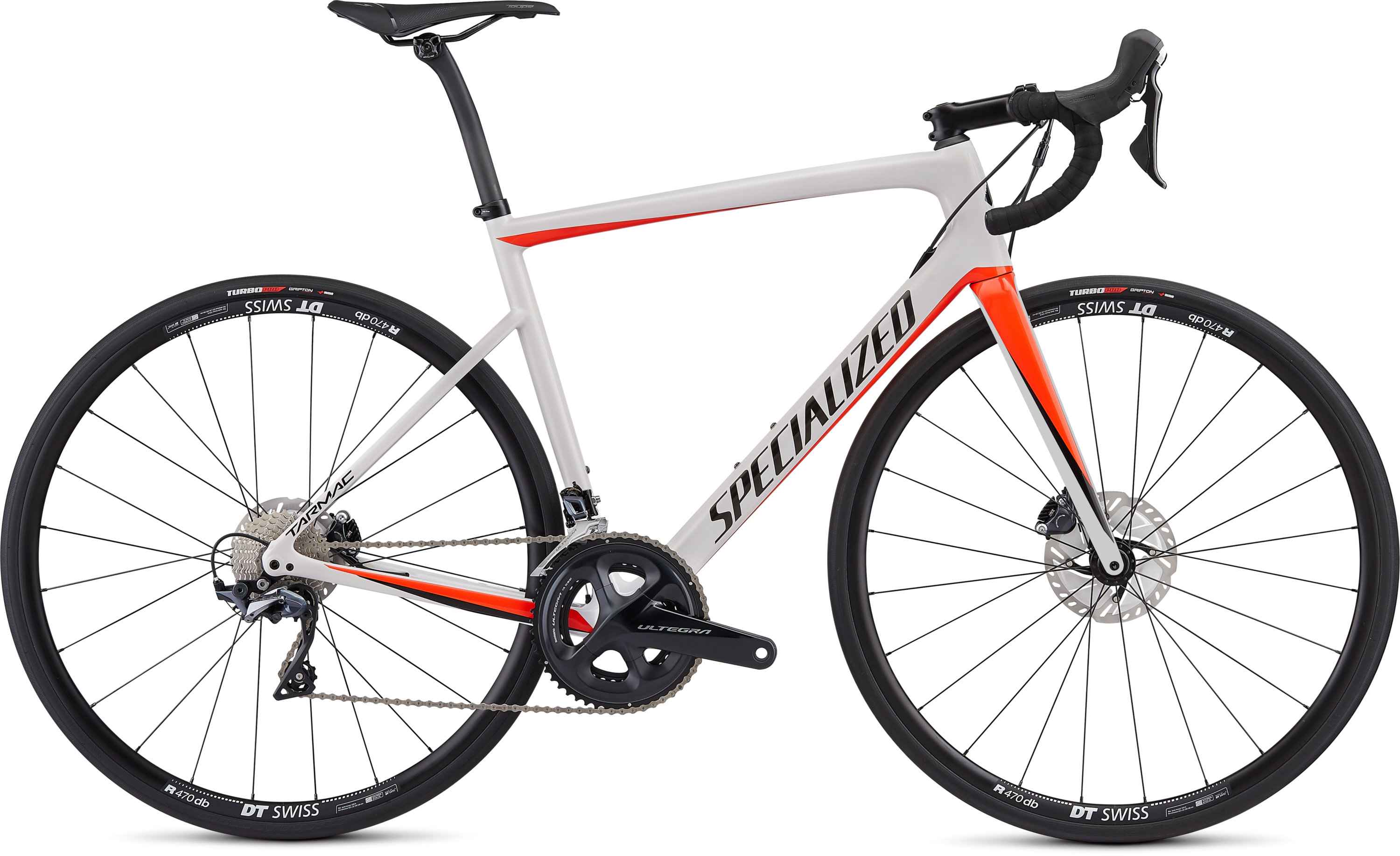 Specialized Men´s Tarmac Disc Comp Gloss Metallic White Silver/Rocket Red/Tarmac Black 56 - Pulsschlag Bike+Sport