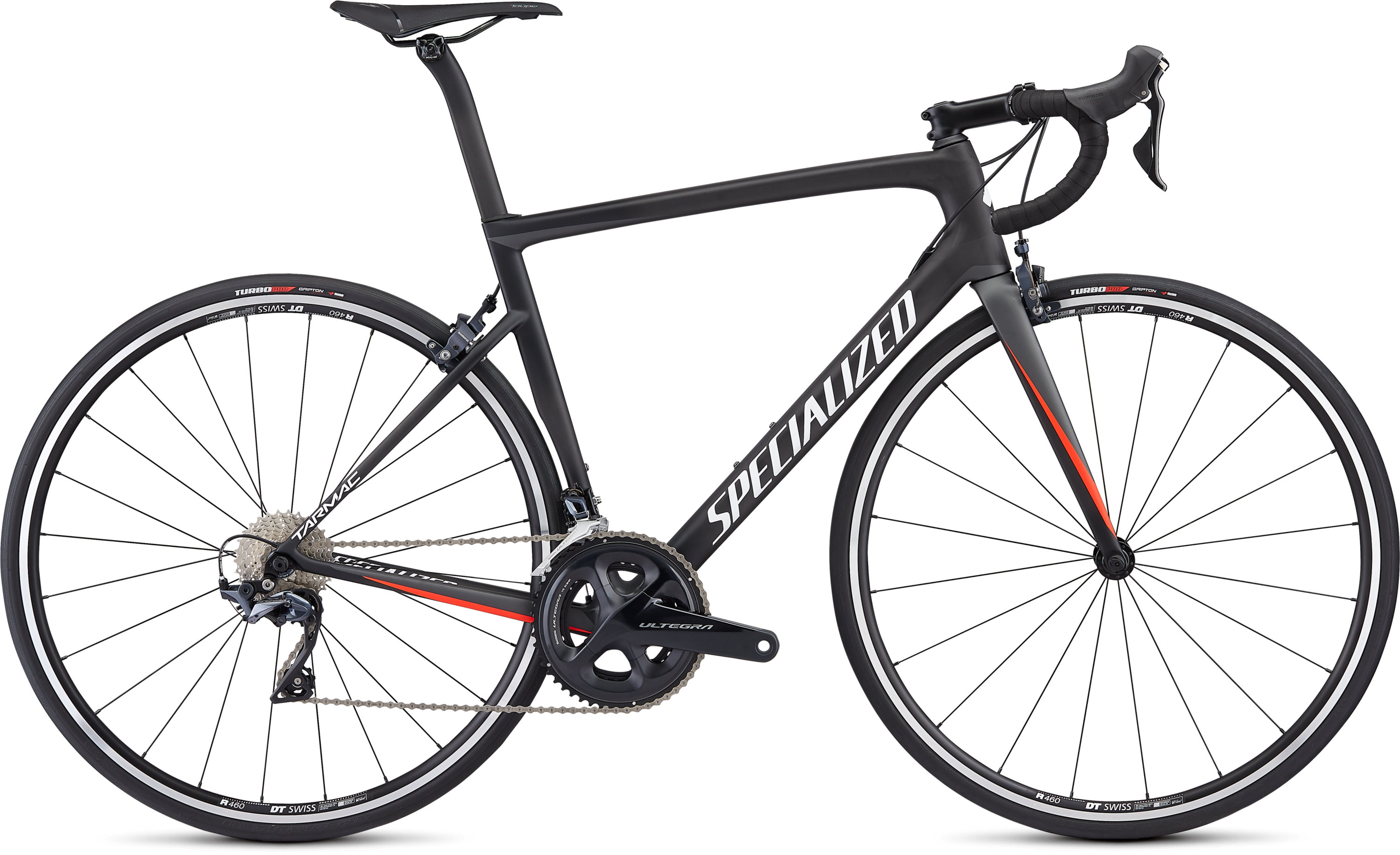 Specialized Men´s Tarmac Comp Satin Carbon/Charcoal/Rocket Red/White 49 - Pulsschlag Bike+Sport