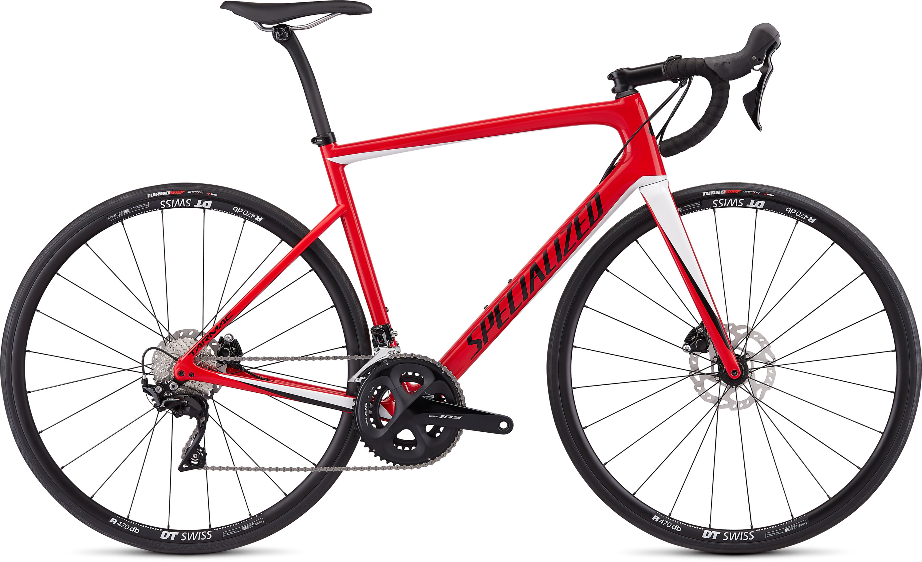 Specialized Men´s Tarmac Disc Sport Gloss Flo Red/Metallic White Silver/Tarmac Black 49 - Pulsschlag Bike+Sport