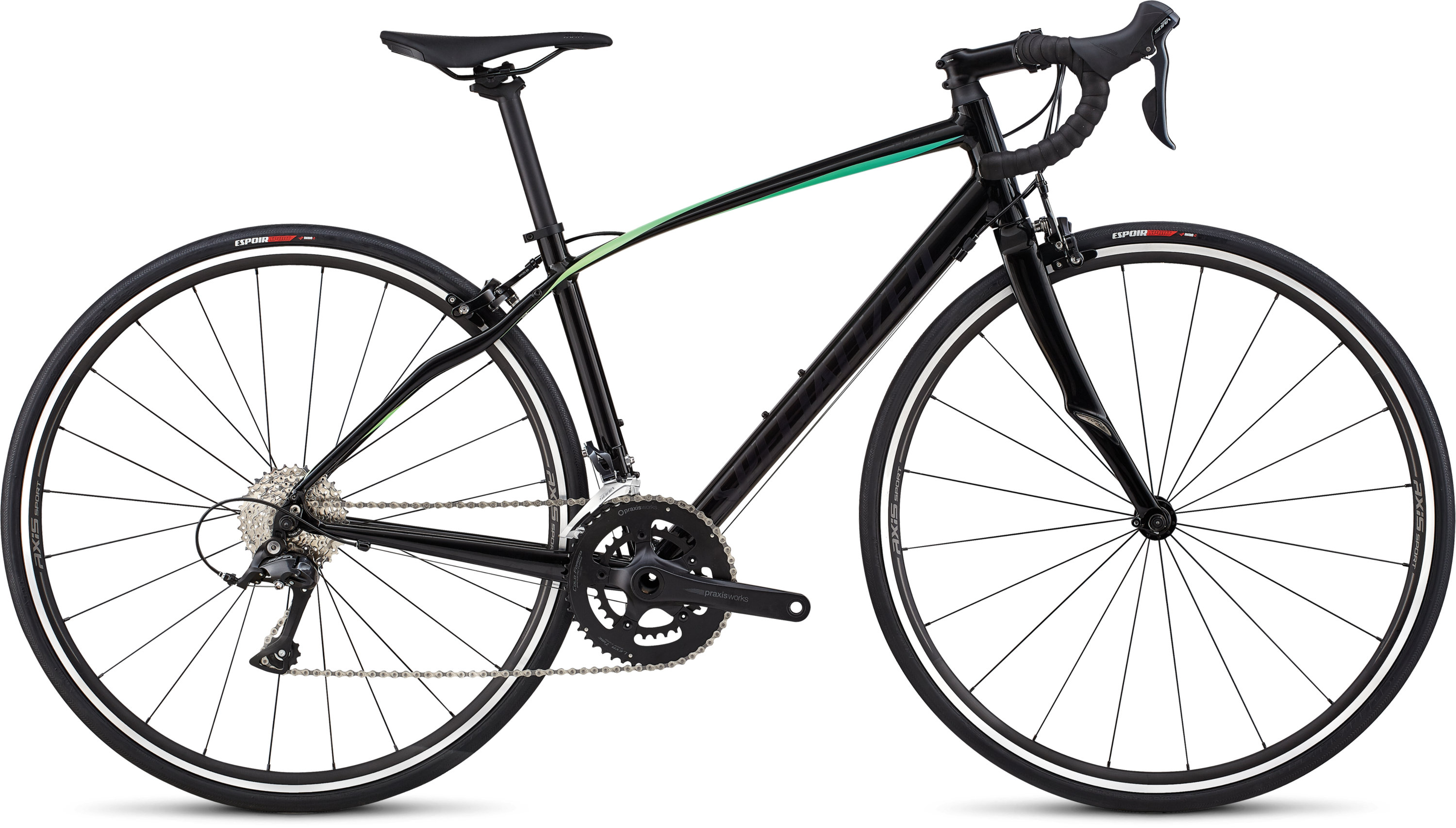 Specialized Dolce Sport Gloss Satin Tarmac Black/Cali Fade 44 - Pulsschlag Bike+Sport