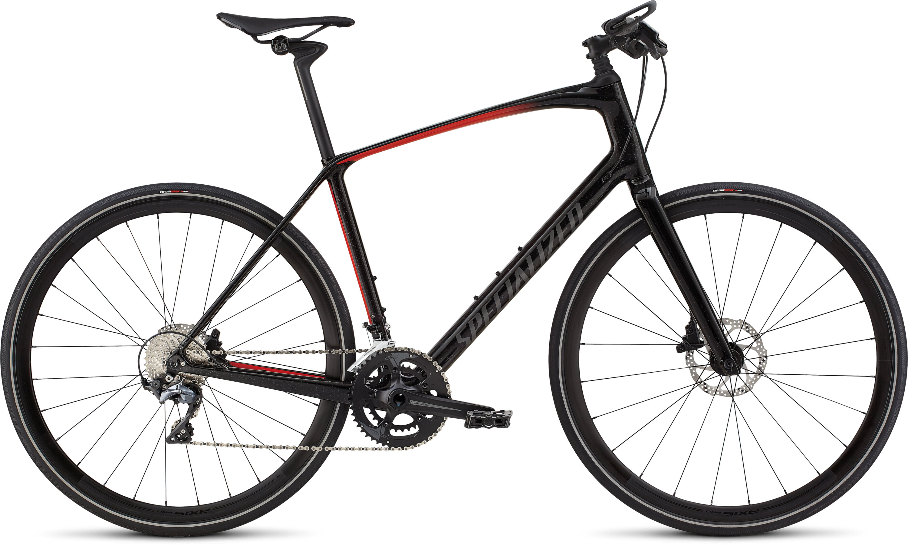 Specialized Men´s Sirrus Pro Carbon Cosmic Black Tint/Rocket Red/Black Reflective L - Pulsschlag Bike+Sport