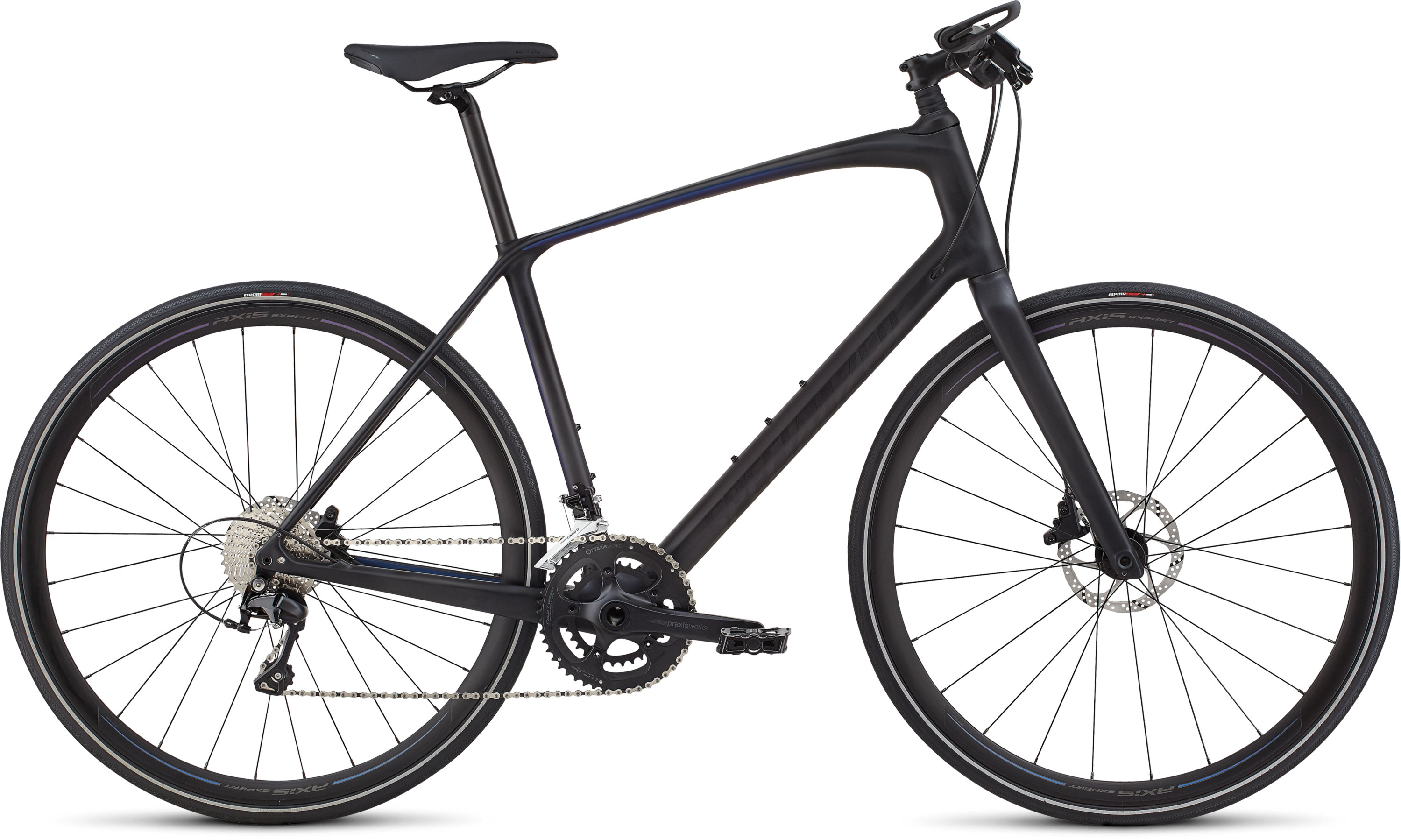 Specialized Men´s Sirrus Expert Carbon Graphite/Chameleon Blue-Purple/Charcoal Reflective L - Pulsschlag Bike+Sport