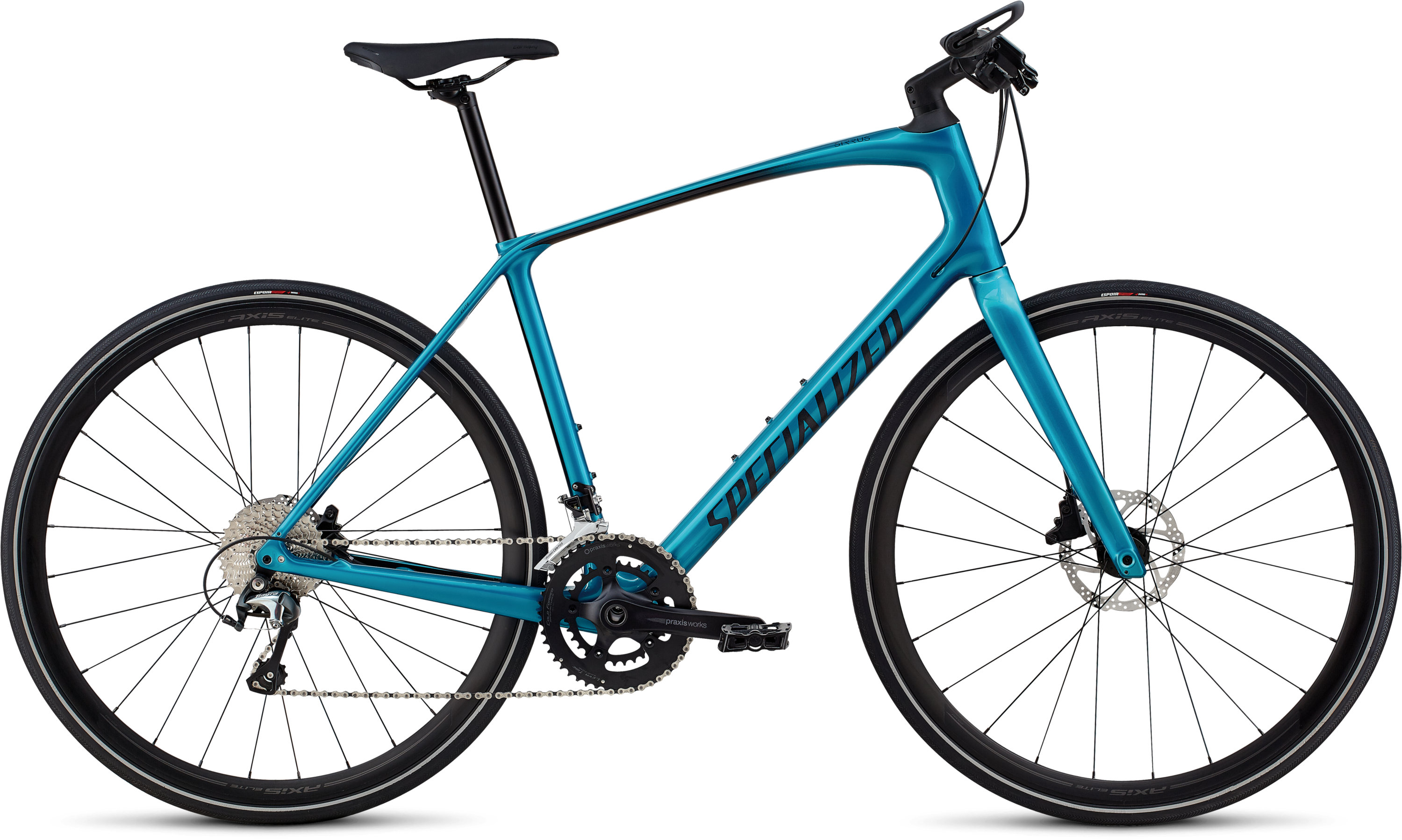 Specialized Men´s Sirrus Elite Carbon Teal Tint/Black/Black Reflective L - Pulsschlag Bike+Sport