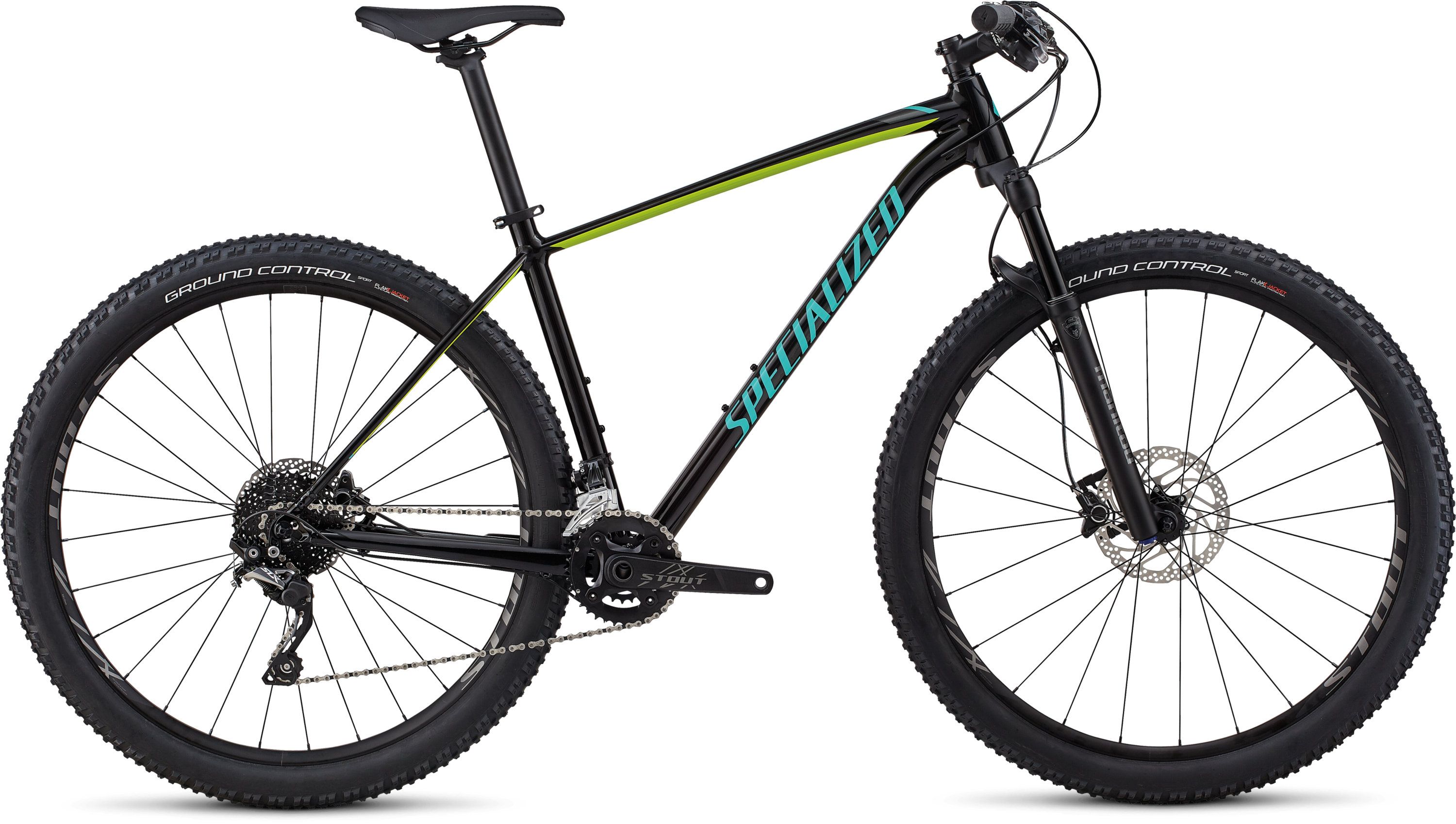 Specialized Men´s Rockhopper Pro GLOSS TARMAC BLACK / HYPER / ACID MINT S - Pulsschlag Bike+Sport