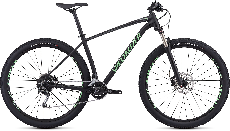Specialized Men´s Rockhopper Expert Gloss Black/Acid Kiwi/Charcoal L - Pulsschlag Bike+Sport